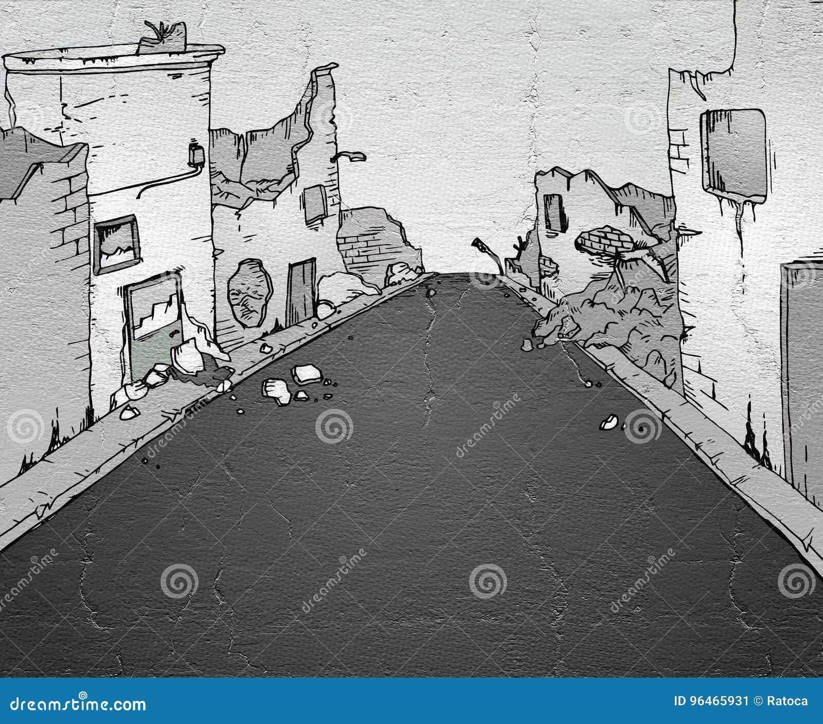 Gebroken straat