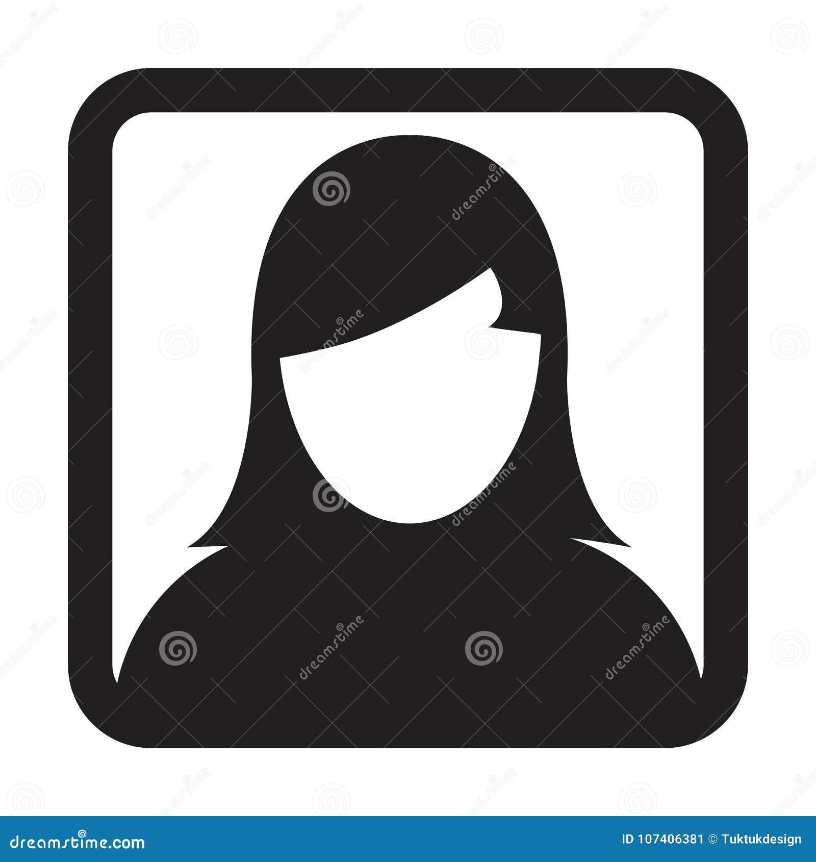 Gebruikerspictogram Vector Vrouwelijk Person Symbol Profile Avatar Sign