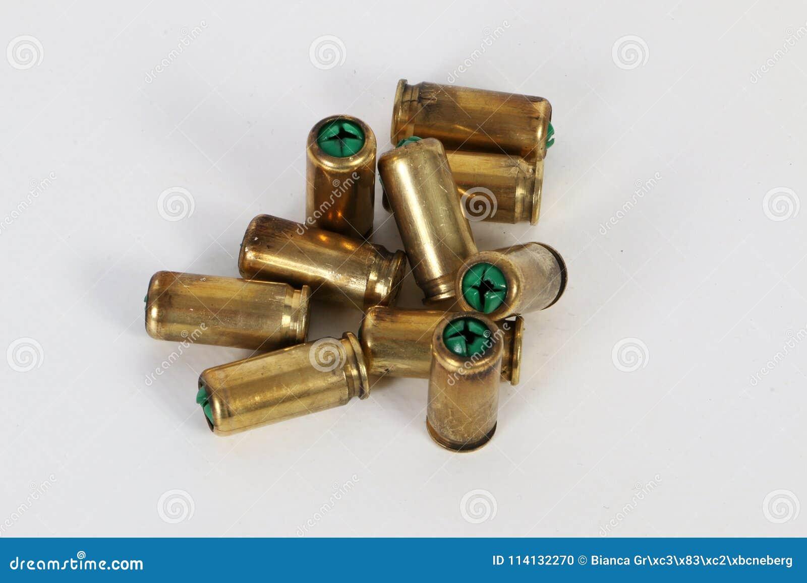 Gebruikte kogels in de studio