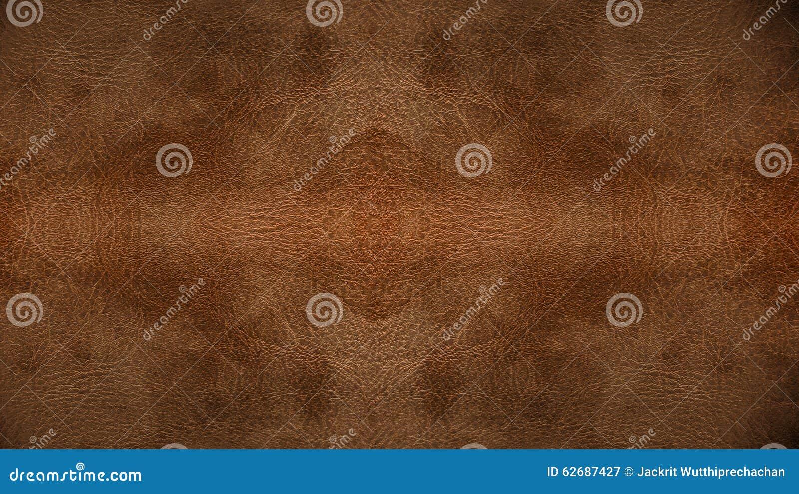 Gebruikte Lichtbruine van het Leer Naadloze Patroon Textuur Als achtergrond voor Meubilairmateriaal