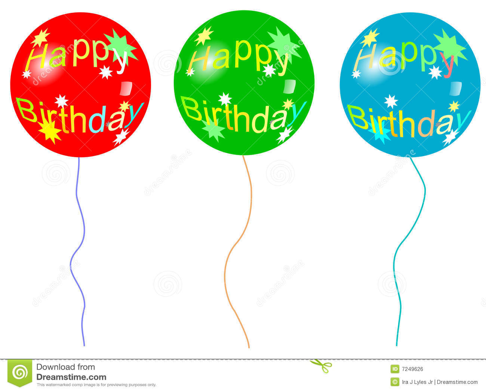 Geburtstag Ballon Vektor Abbildung Illustration Von Sterne 7249626