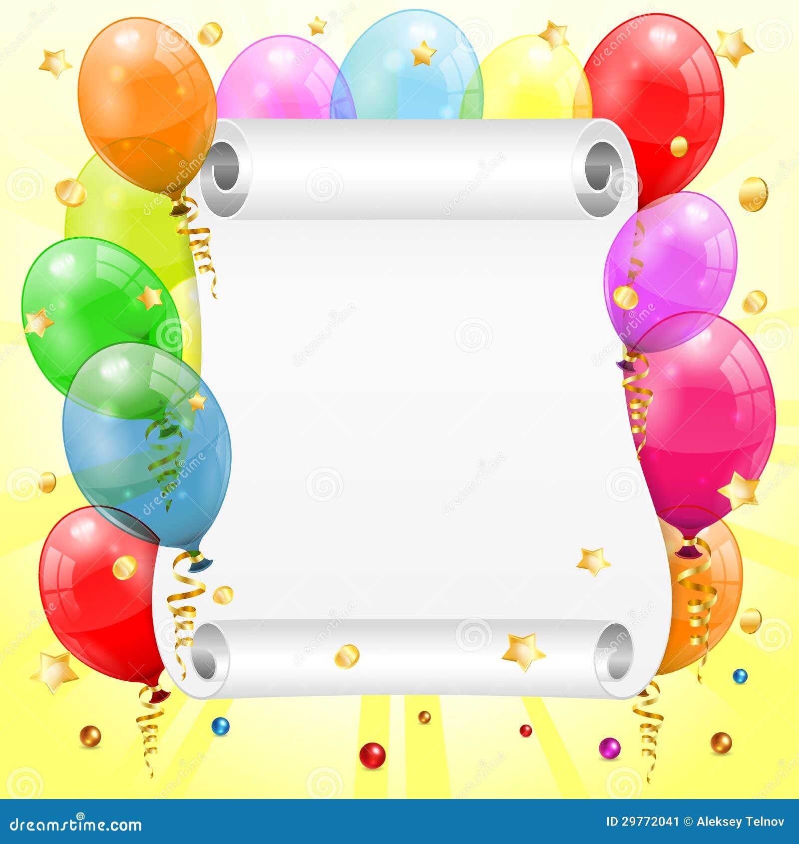 Geburtstags-Rahmen vektor abbildung. Illustration von hell - 29772041