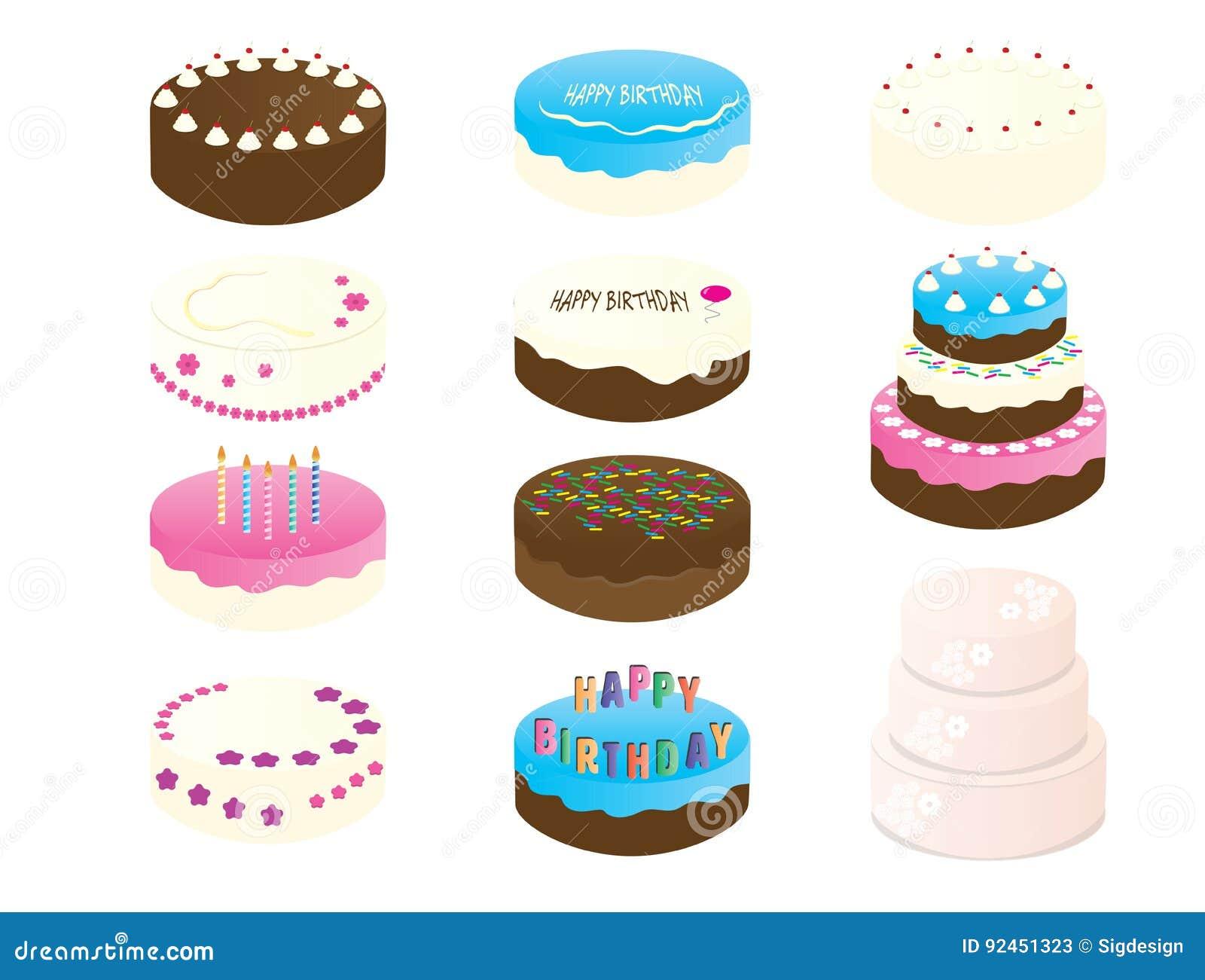 11 Geburtstags Kuchen Cliparte Vektor Abbildung Illustration Von
