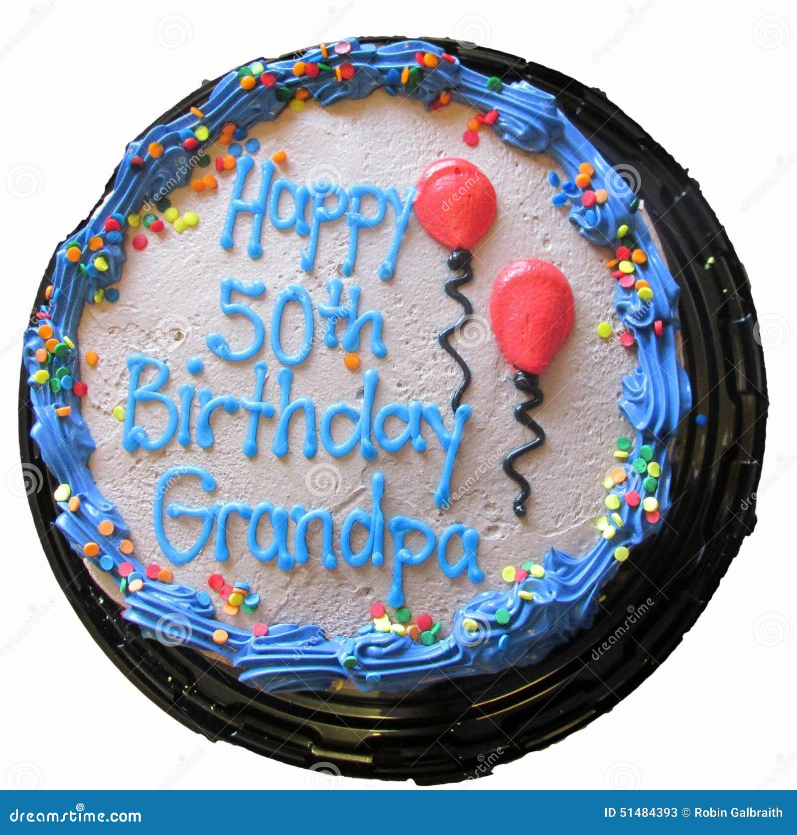 50 Geburtstags Kuchen Lokalisiert Stockbild Bild Von Großvater