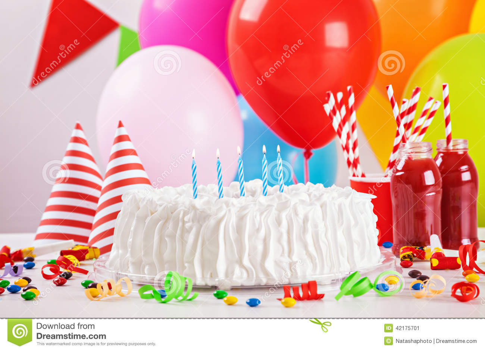 Geburtstags kuchen und dekoration stockfoto bild 42175701 for Dekoration kuchen