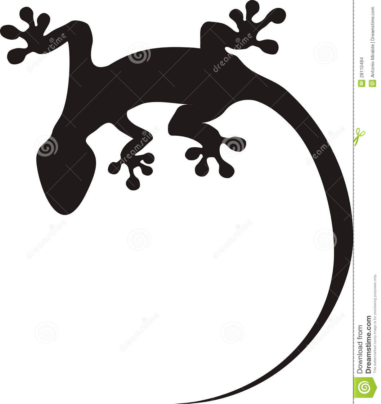 Gecko Tattoo Stock Images - Image: 28110484