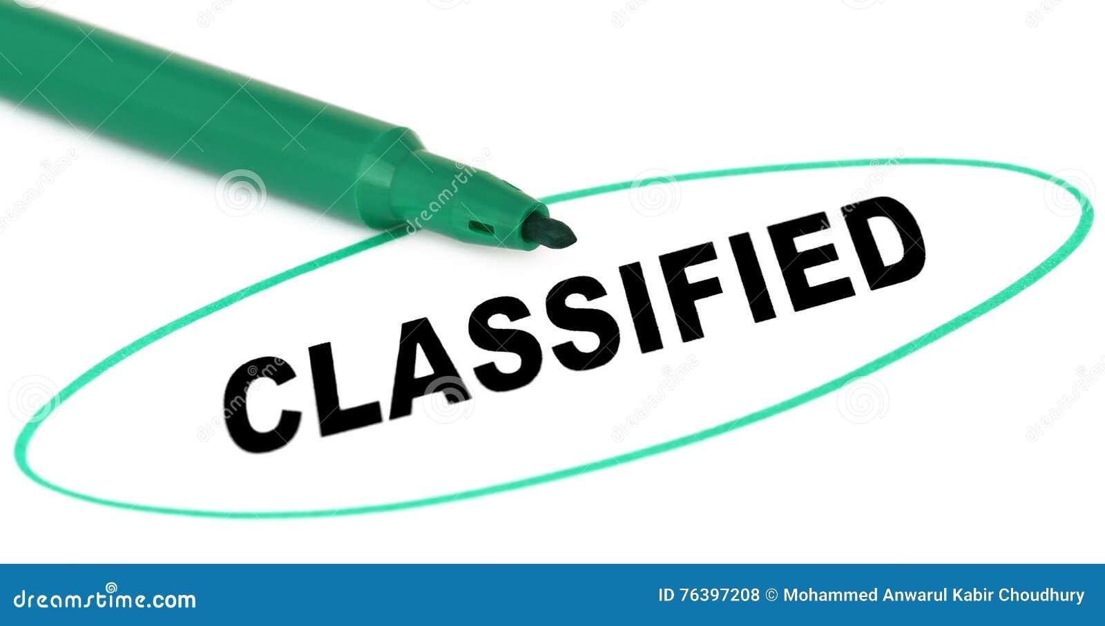 Geclassificeerd geschreven in document