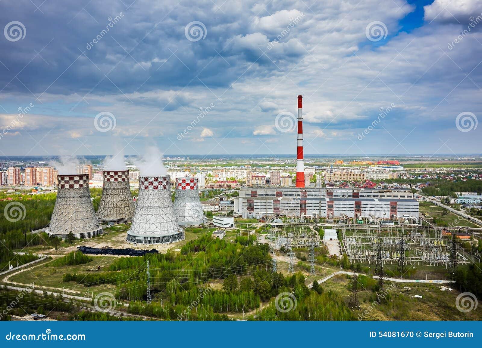 Gecombineerde hitte en machtsfabriek Tyumen Rusland