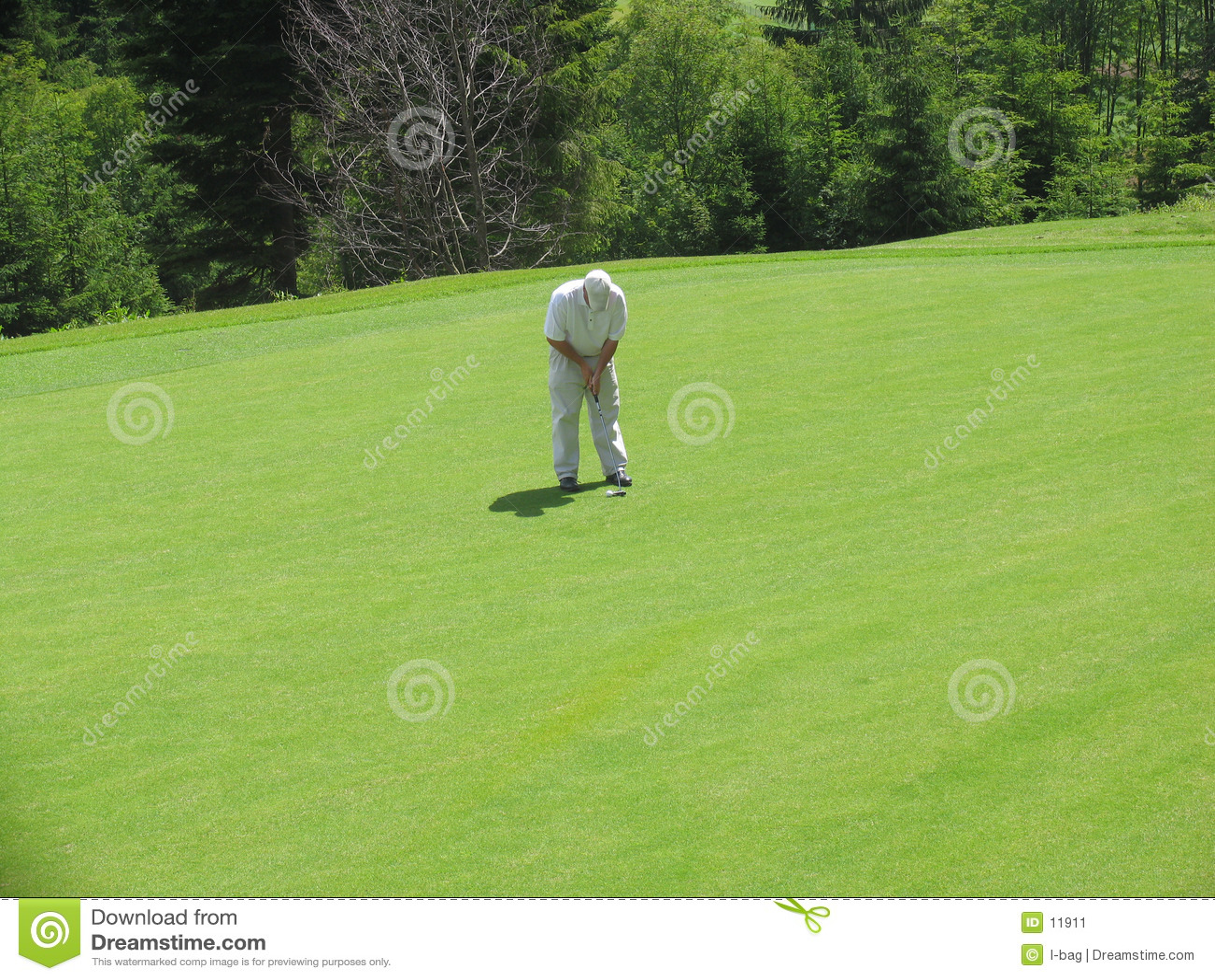 Geconcentreerde golfspeler