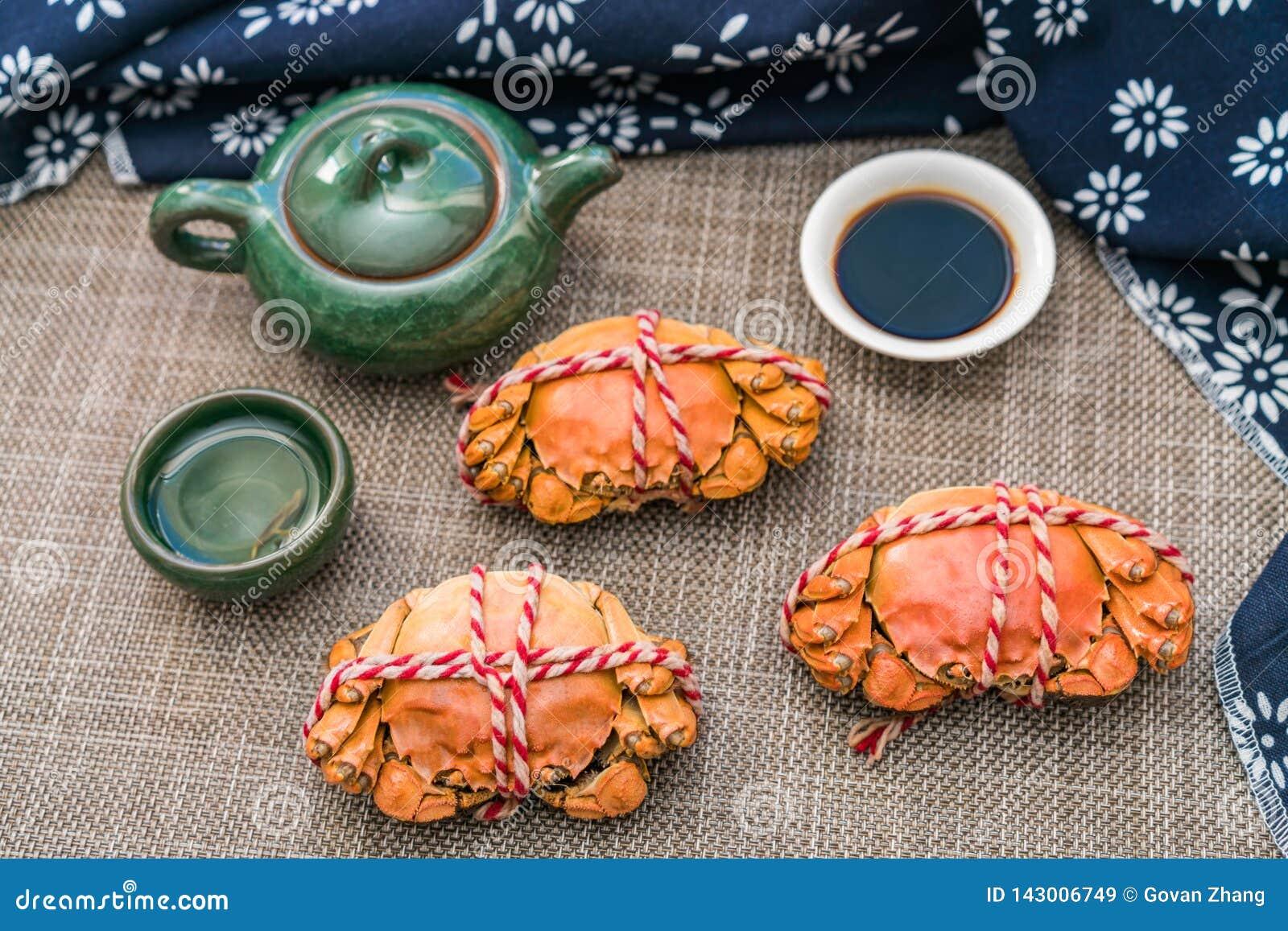 Gedämpfte Krabbe, eine Zartheit von Chongyang-Festival in China