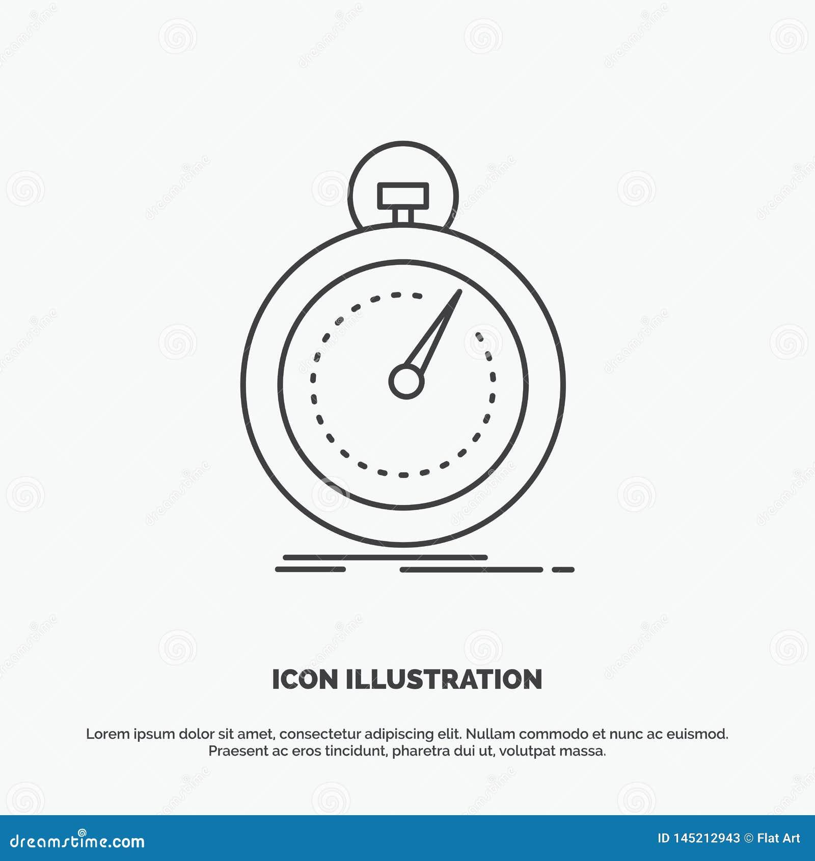 Gedaan, snel, optimalisering, snelheid, sportpictogram Lijn vector grijs symbool voor UI en UX, website of mobiele toepassing