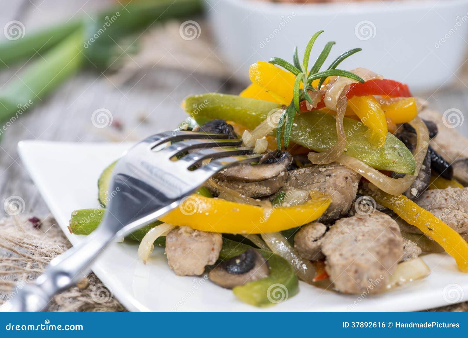 Gedeelte Groenten met Kip