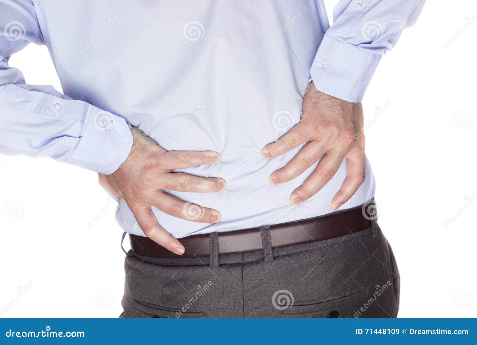 Gedeeltelijk desaturated beeld van gespannen mannelijke rug
