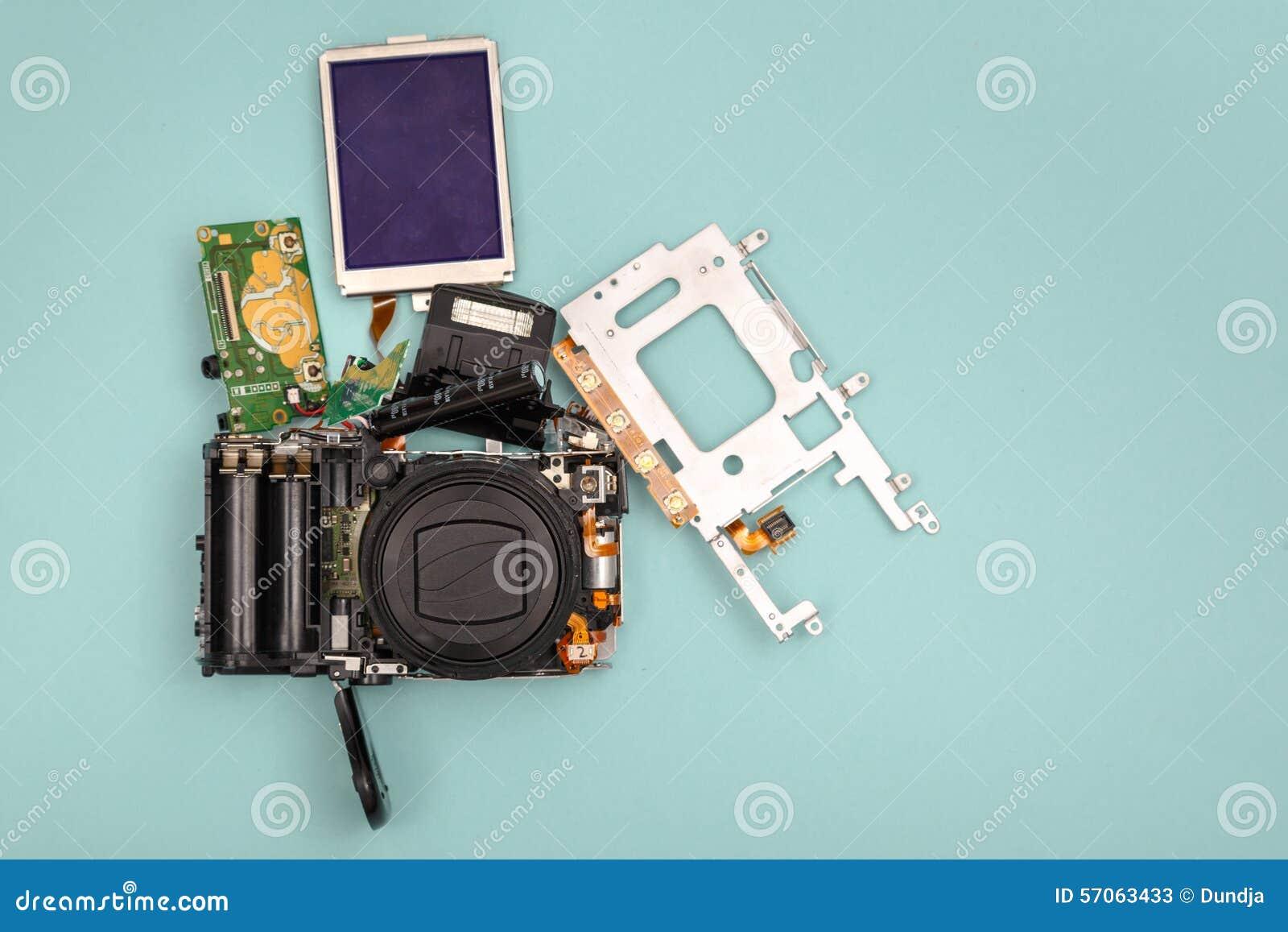 Gedemonteerde fotocamera