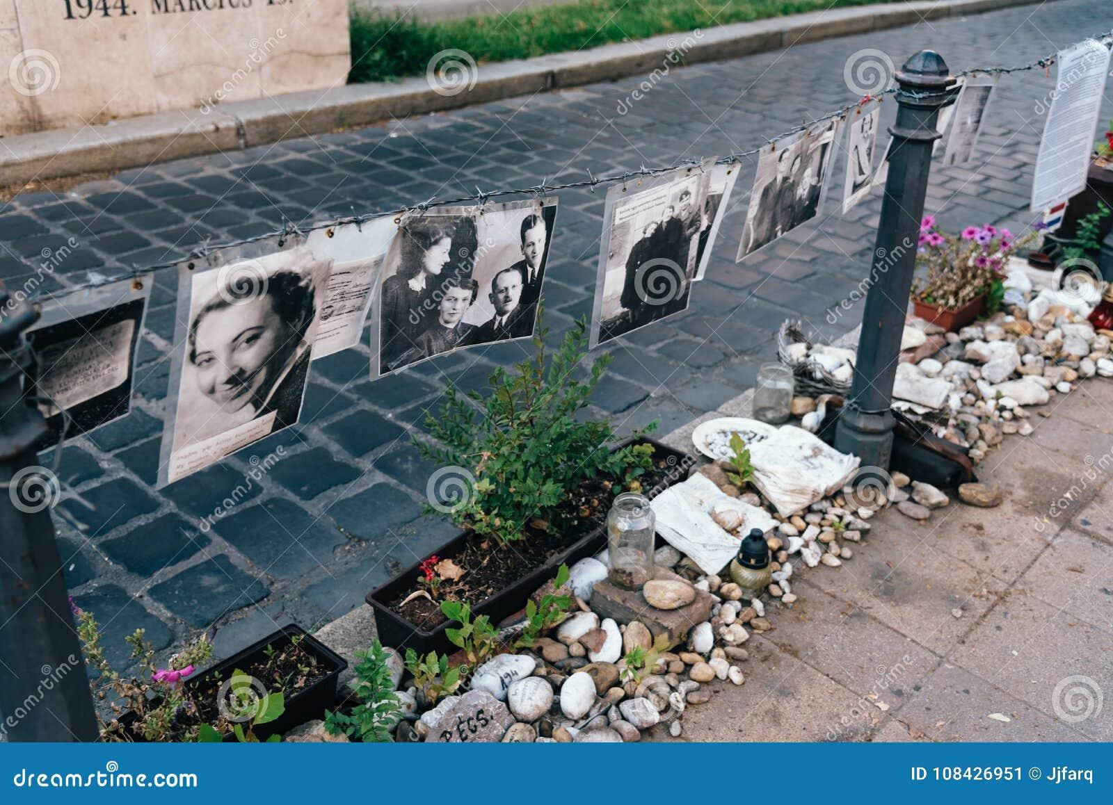 Gedenkteken voor Joodse slachtoffers in Liberty Square in Boedapest