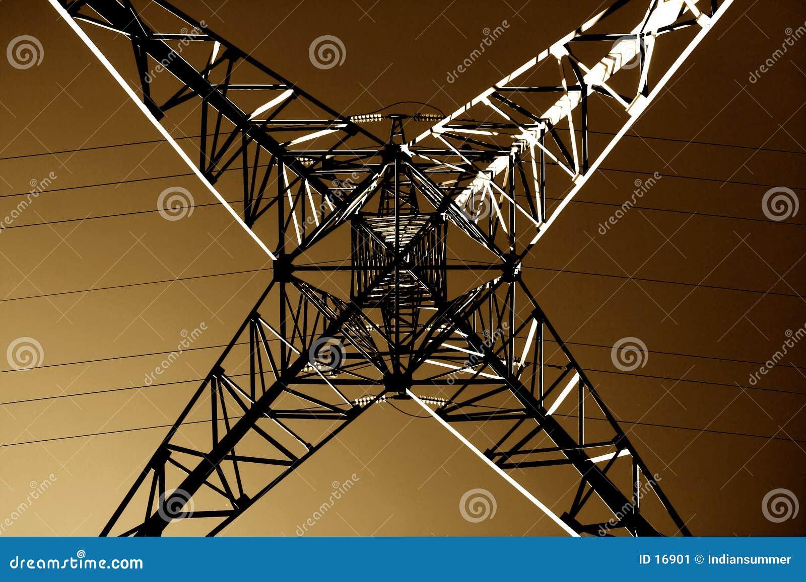 Gedetailleerde meetkunde van de lijn van de Macht,
