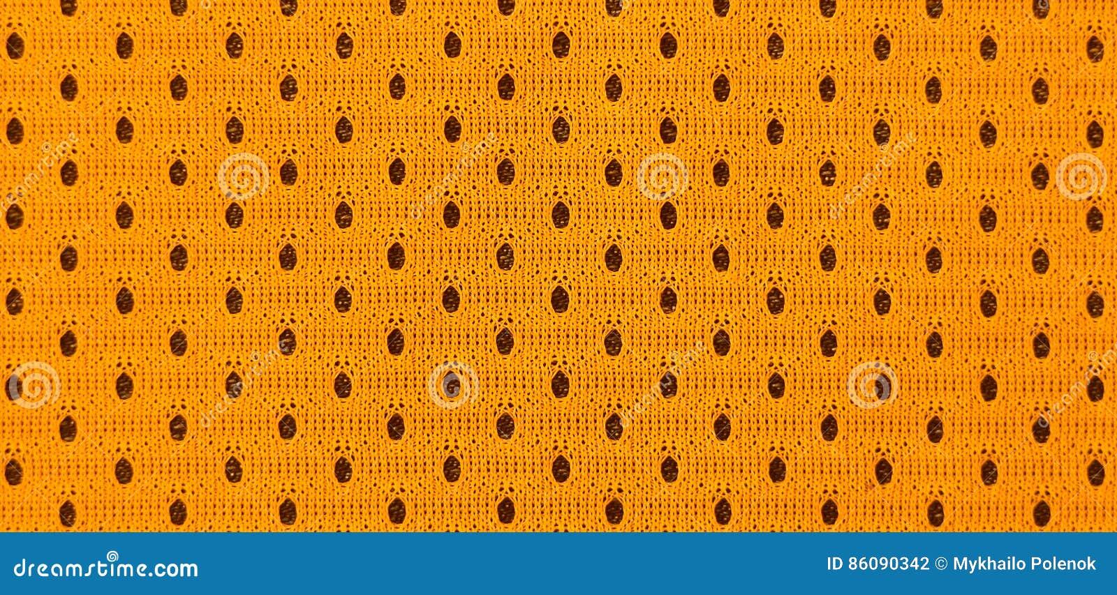 Gedetailleerde textuur van basketbal sportswearl doek