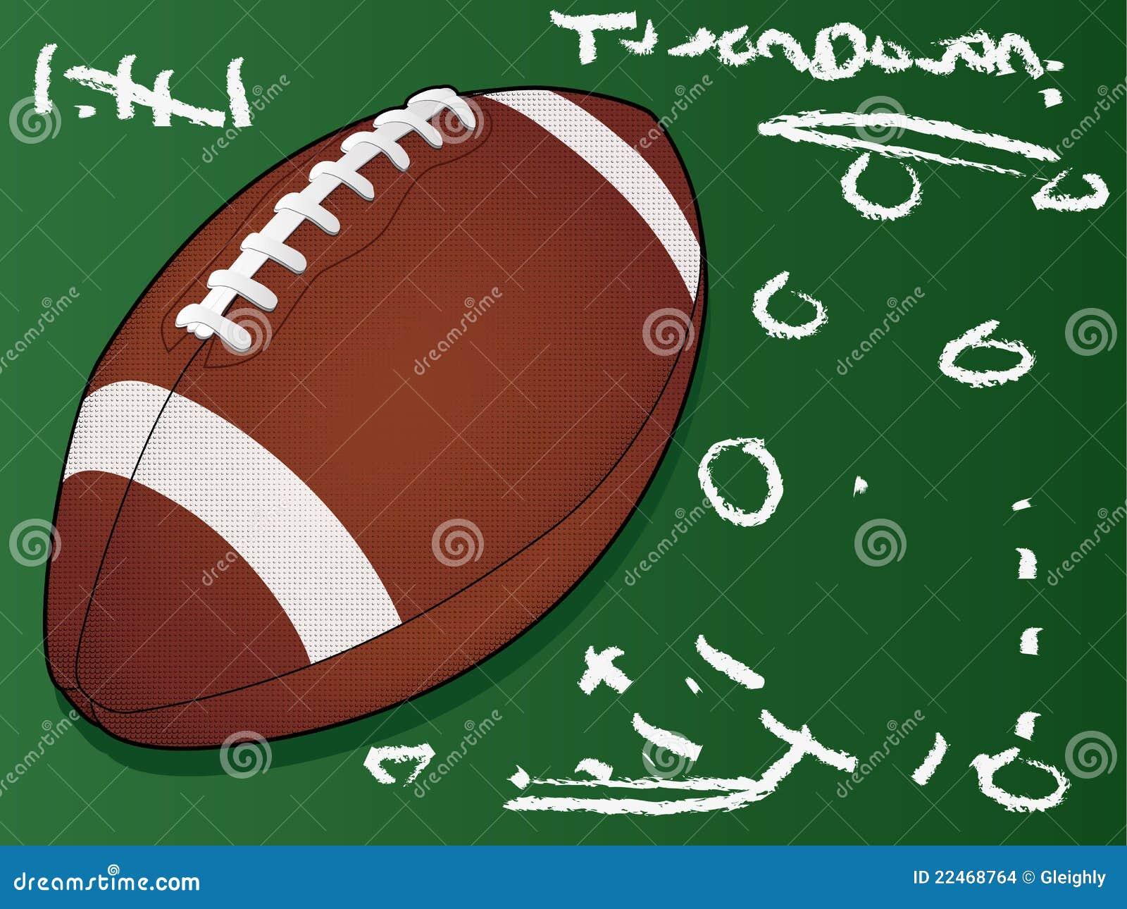 Gedetailleerde voetbal op bord
