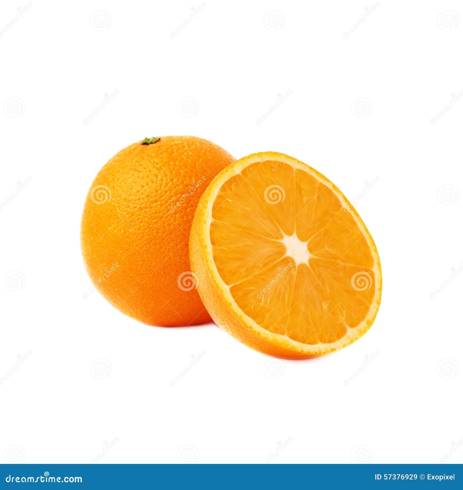 Gediende oranje die fruitsamenstelling over wordt geïsoleerd