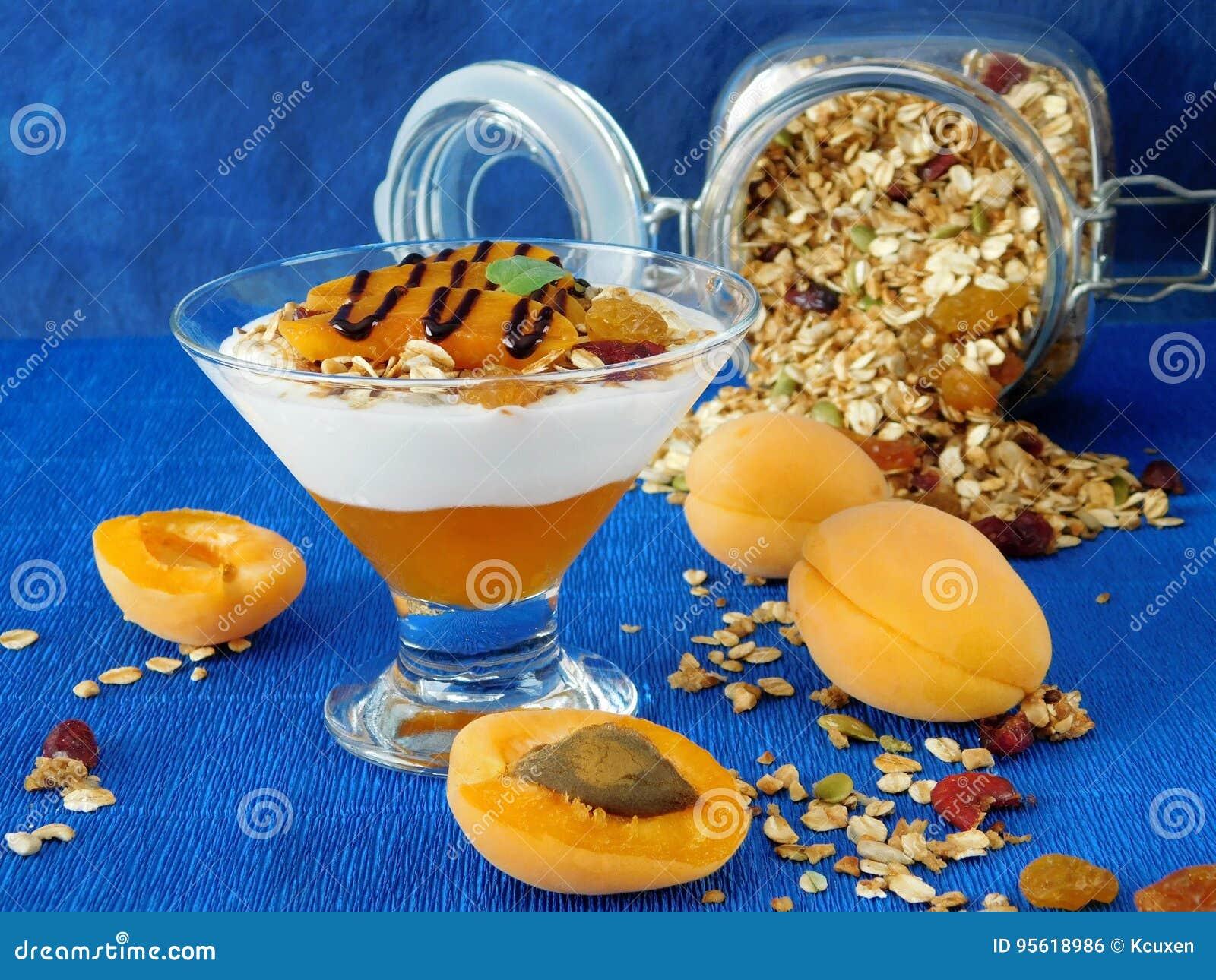 Gedoseerd gelaagd yoghurtdessert