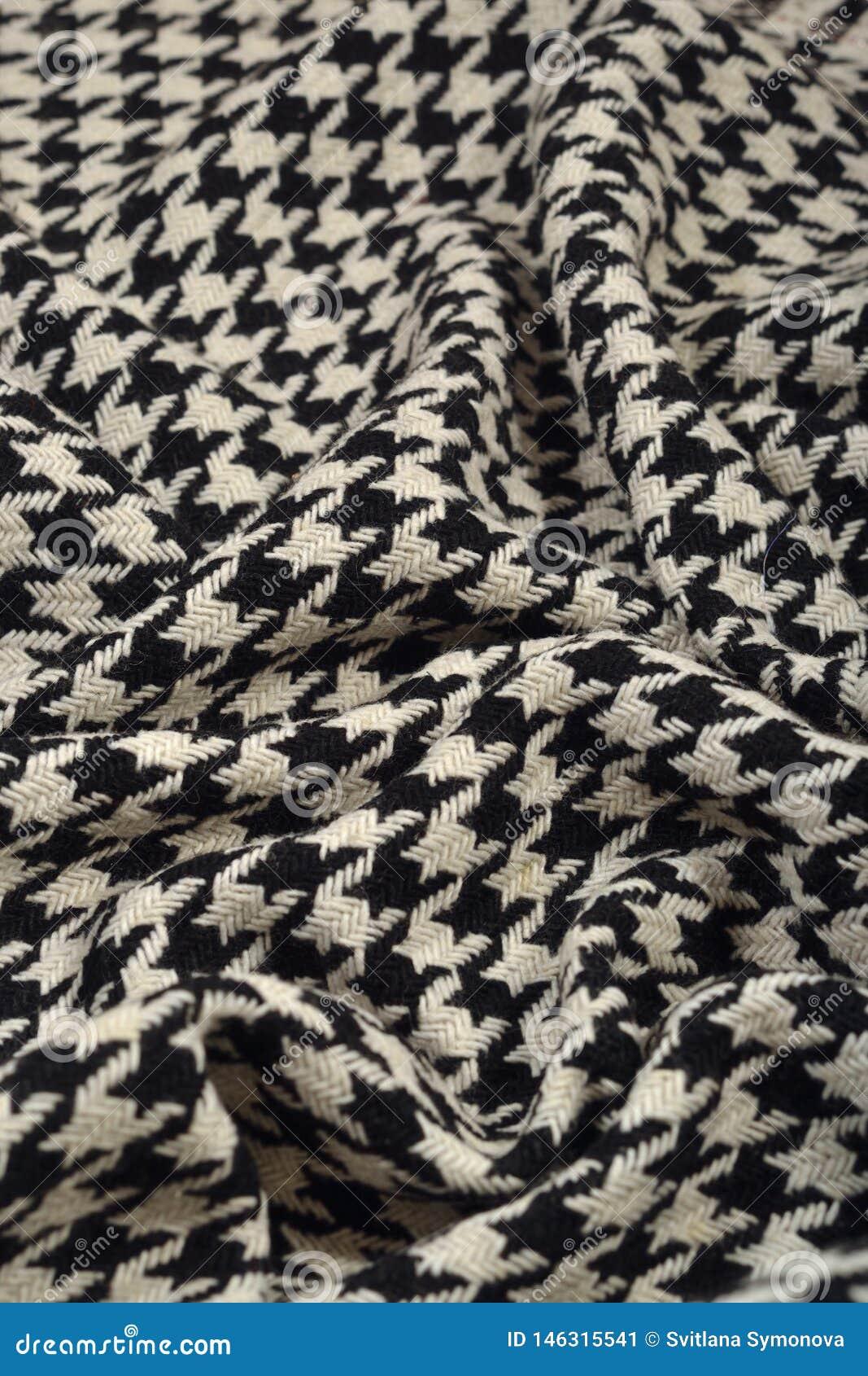 Gedrapeerde van de de voetwol van de tweedgans de stoffentextuur