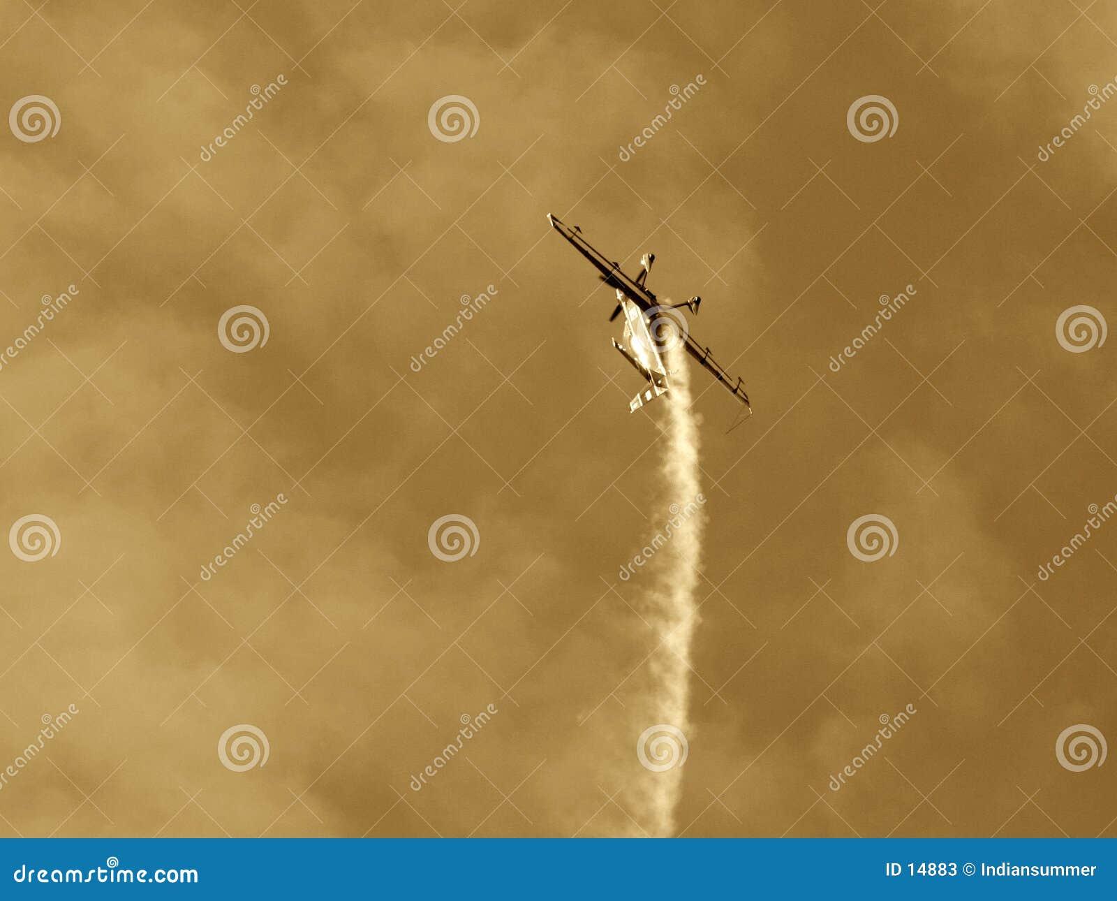 Gedreht Flugzeug