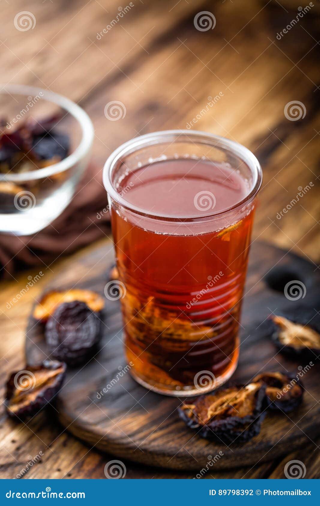 Gedroogde pruimdrank, gedroogde pruimenuittreksel, vruchten drank