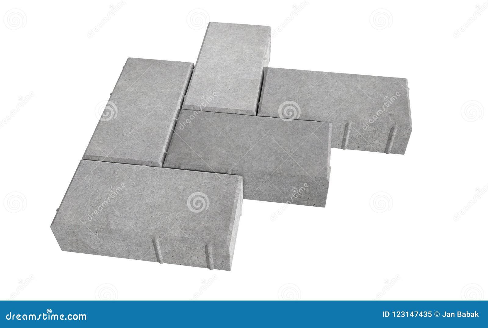 Geef van grijs slot drie het bedekken bakstenen terug Geïsoleerdj op witte achtergrond
