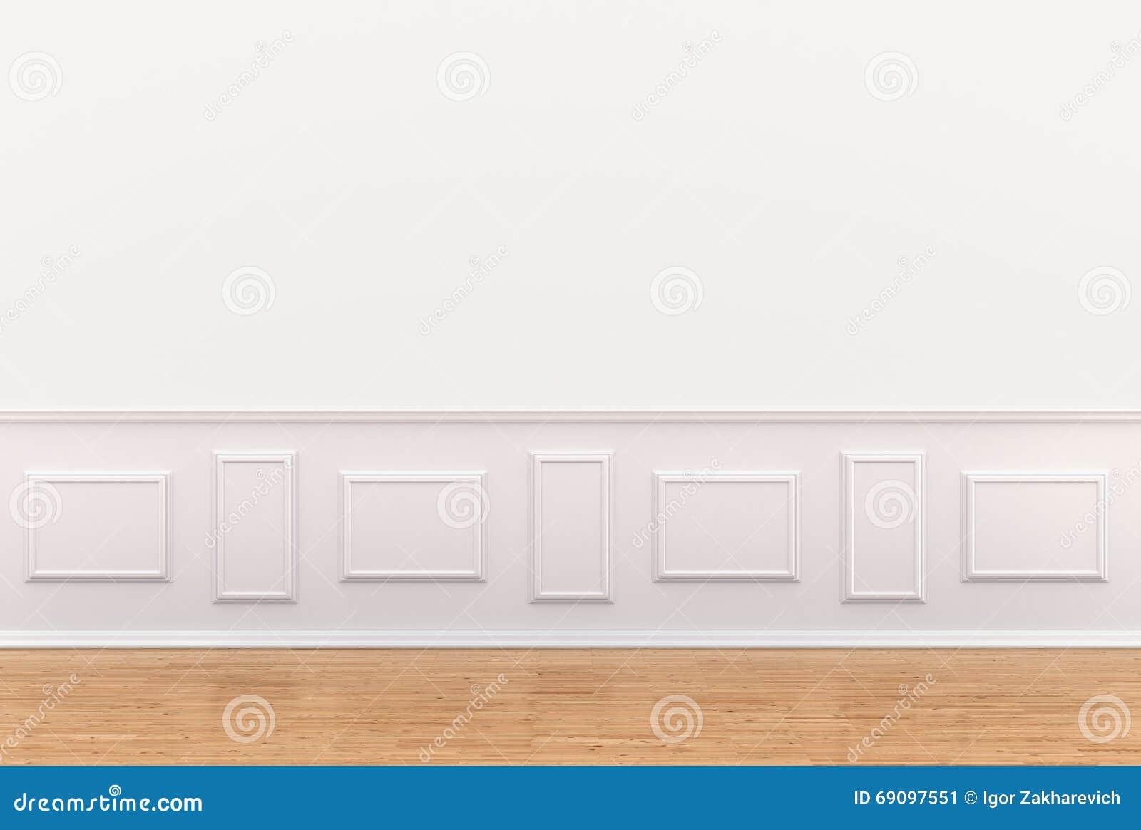 Geef Van Wit Binnenland Met Panelen Op Muur Terug Stock Illustratie   Afbeelding  69097551