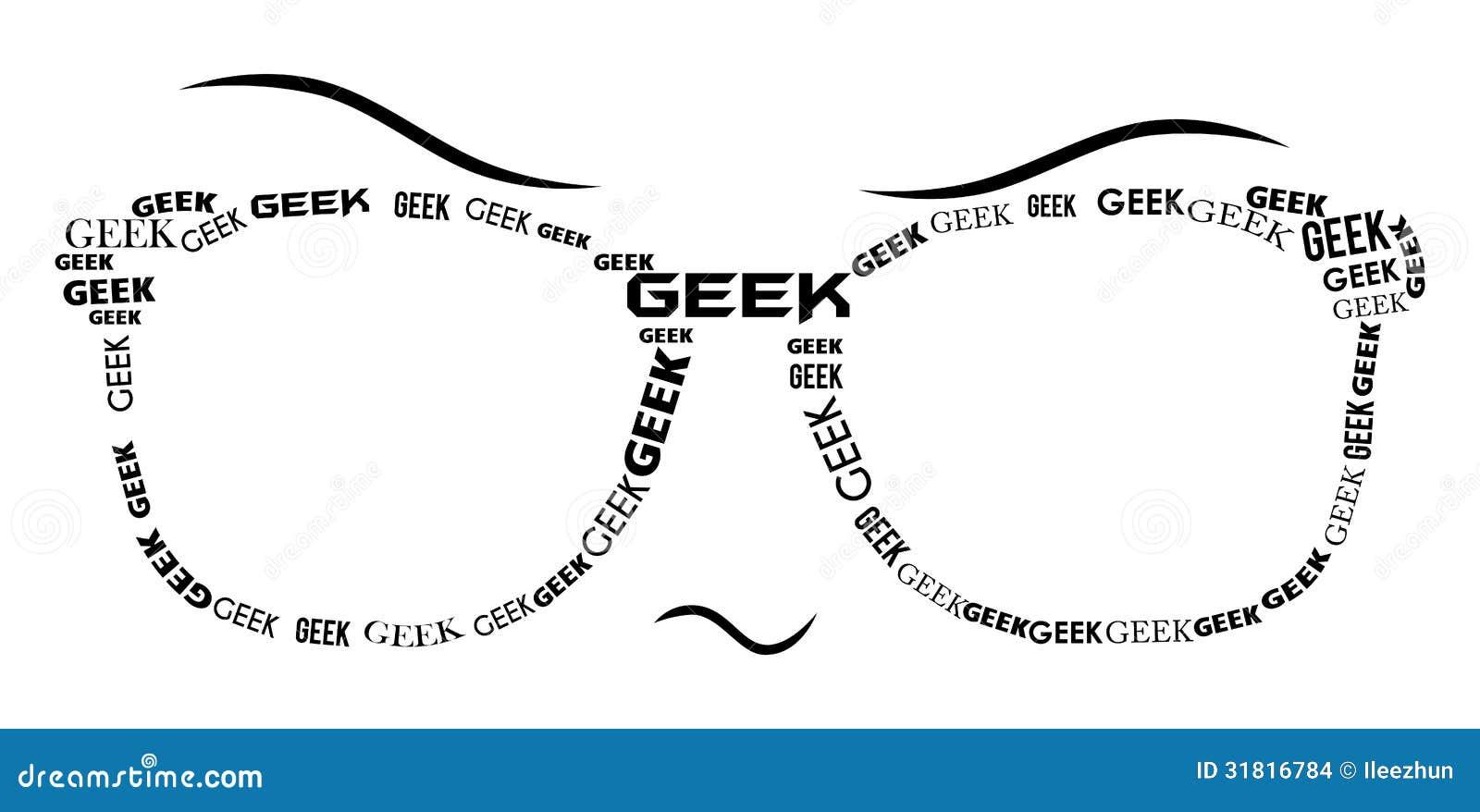 geek specs - black stock illustration  image of geeky