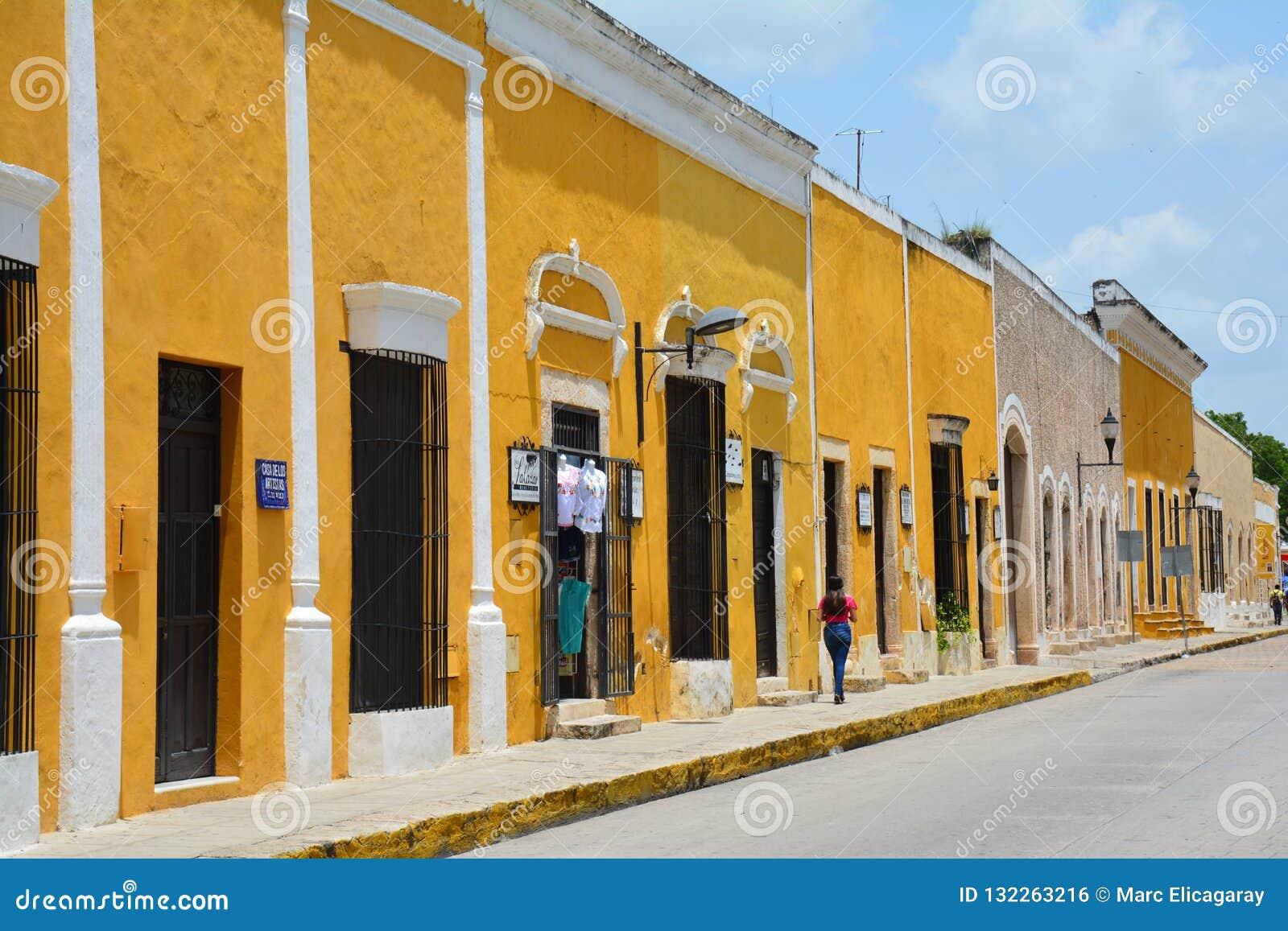 Geel Dorp van Izamal Yucatan in Mexico