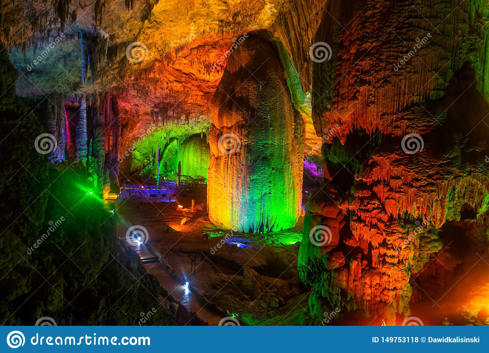 Geel Dragon Cave, Wonder van de Holen van de Wereld, Zhangjiajie, China