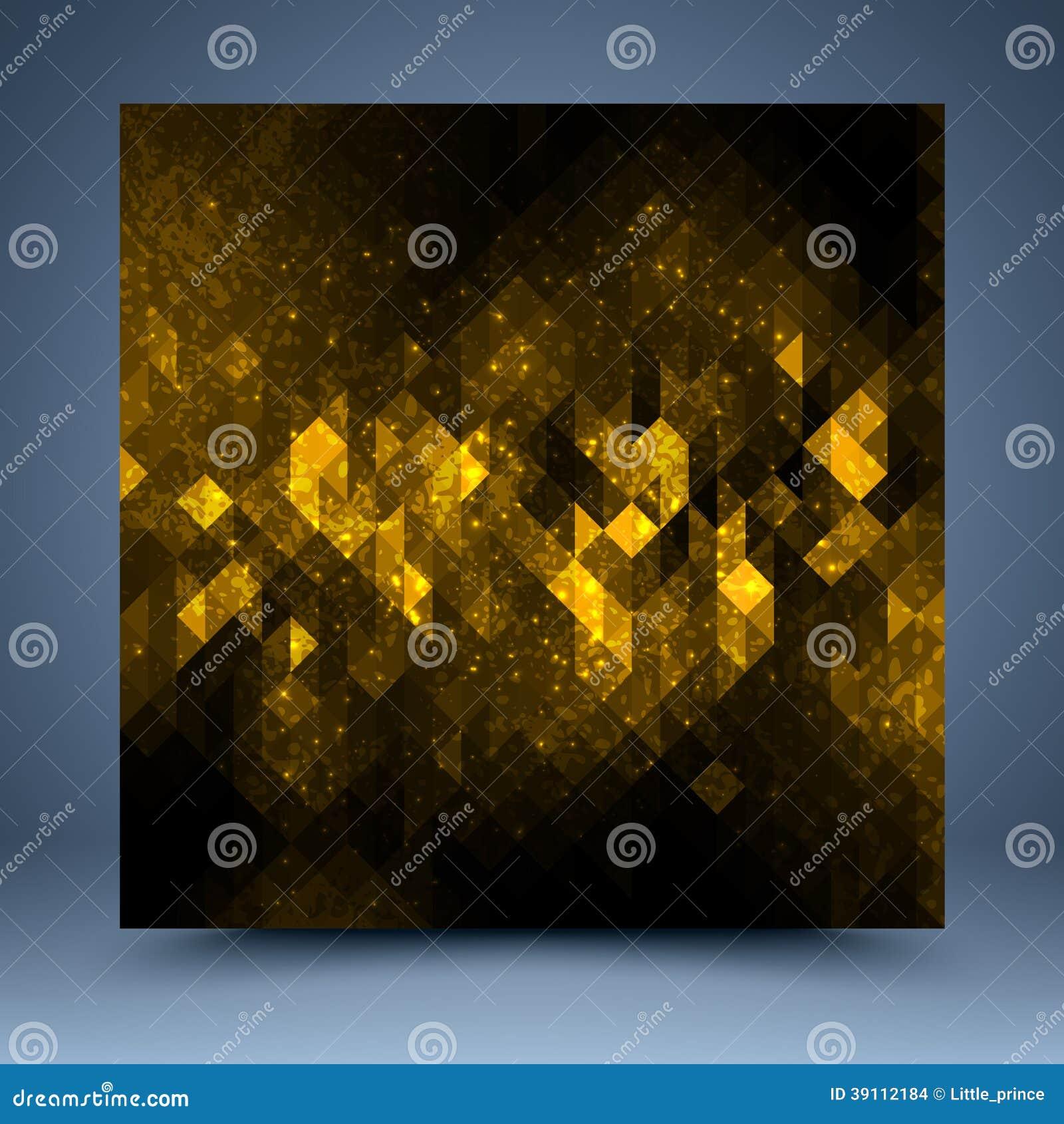 Geel en zwart abstract malplaatje