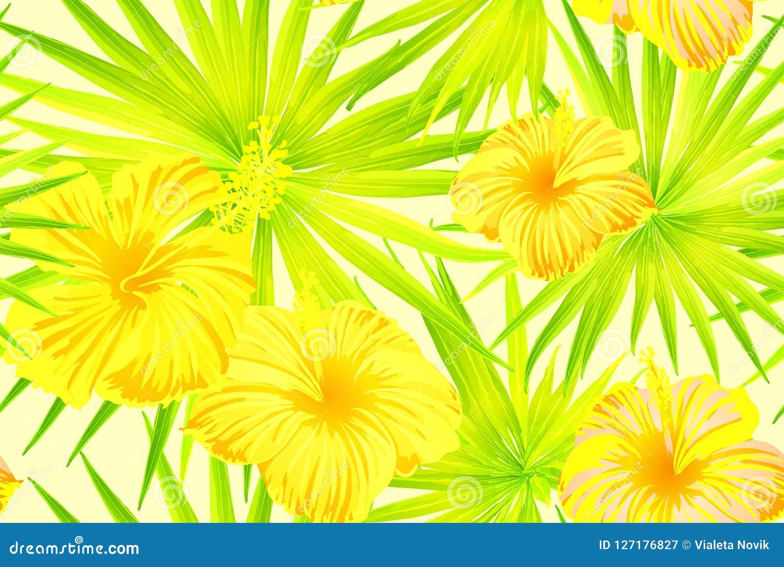 Geel exotisch patroon