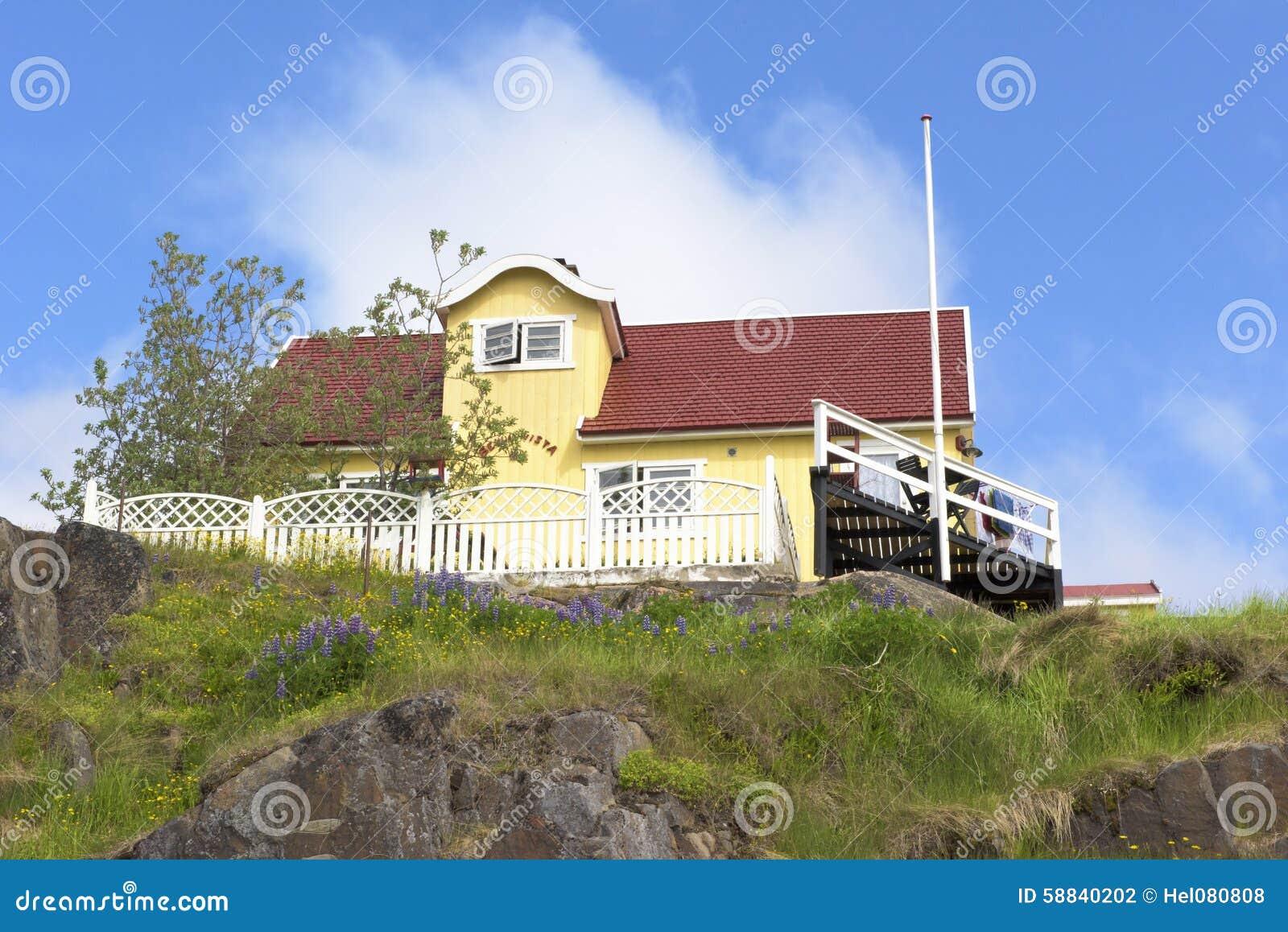 Geel huis, Groenland