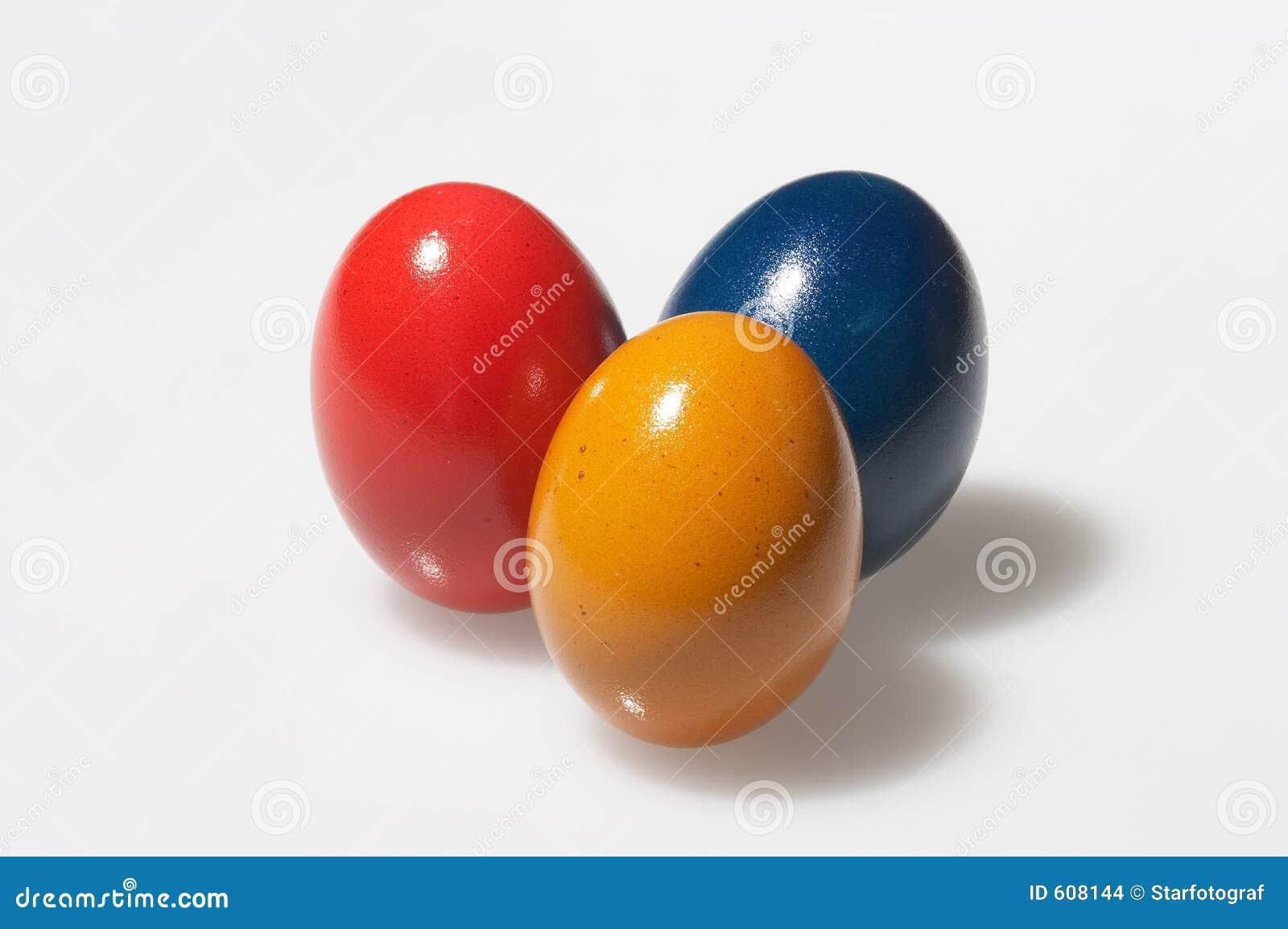 Geel, rood en blauw