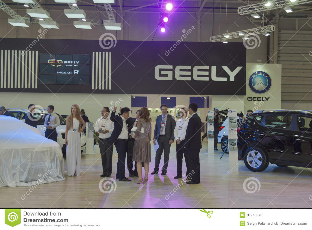 Exhibition Booth Sia : Geely automotive company booth editorial stock photo image of