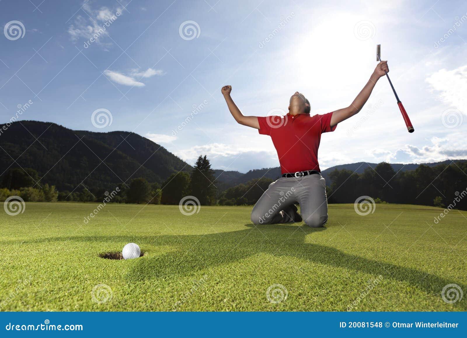 Geen игрок гольфа счастливый