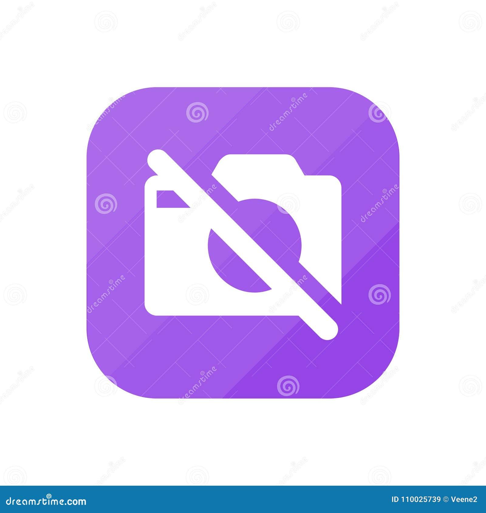 Geen Camera - App Pictogram