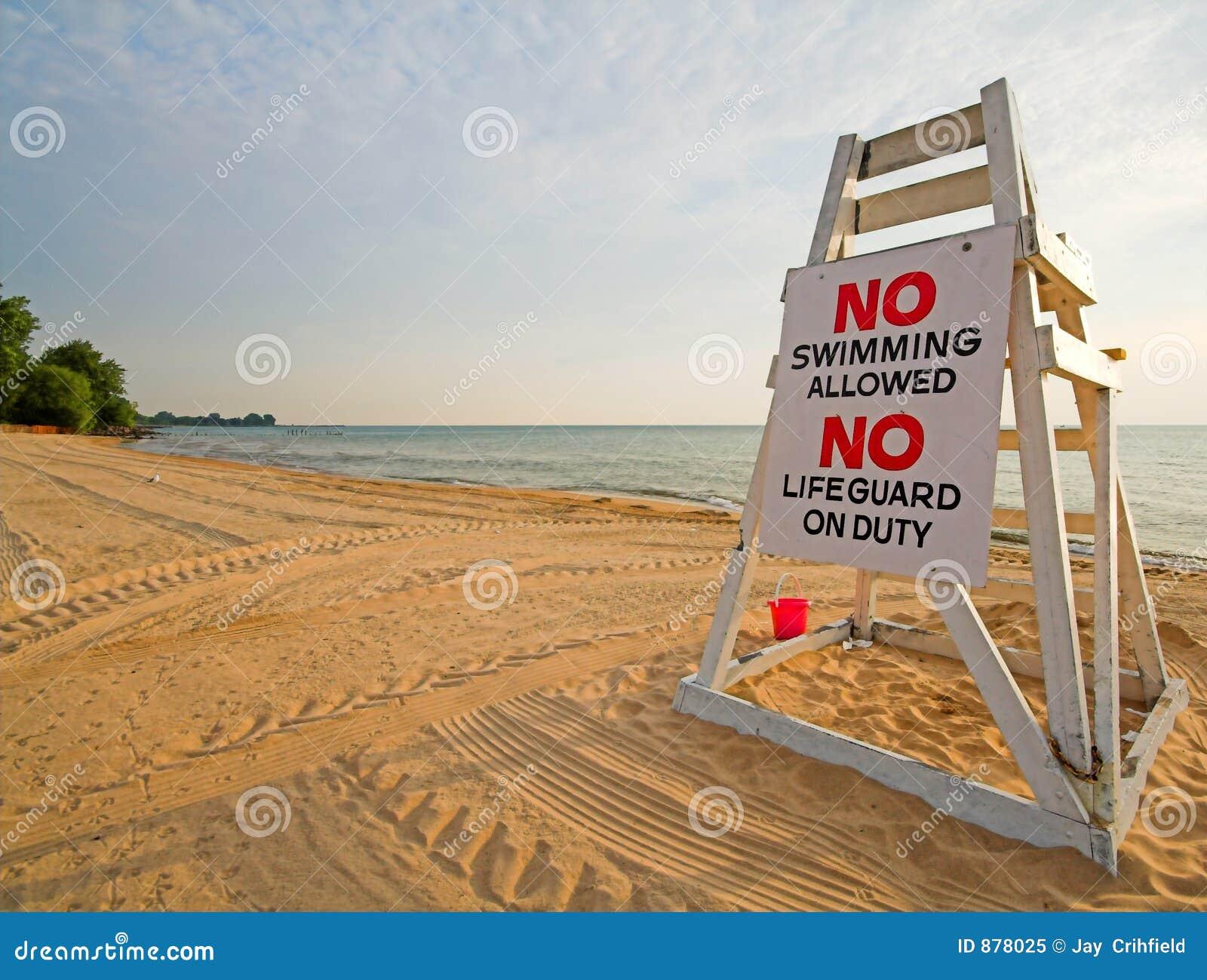 Geen het zwemmen