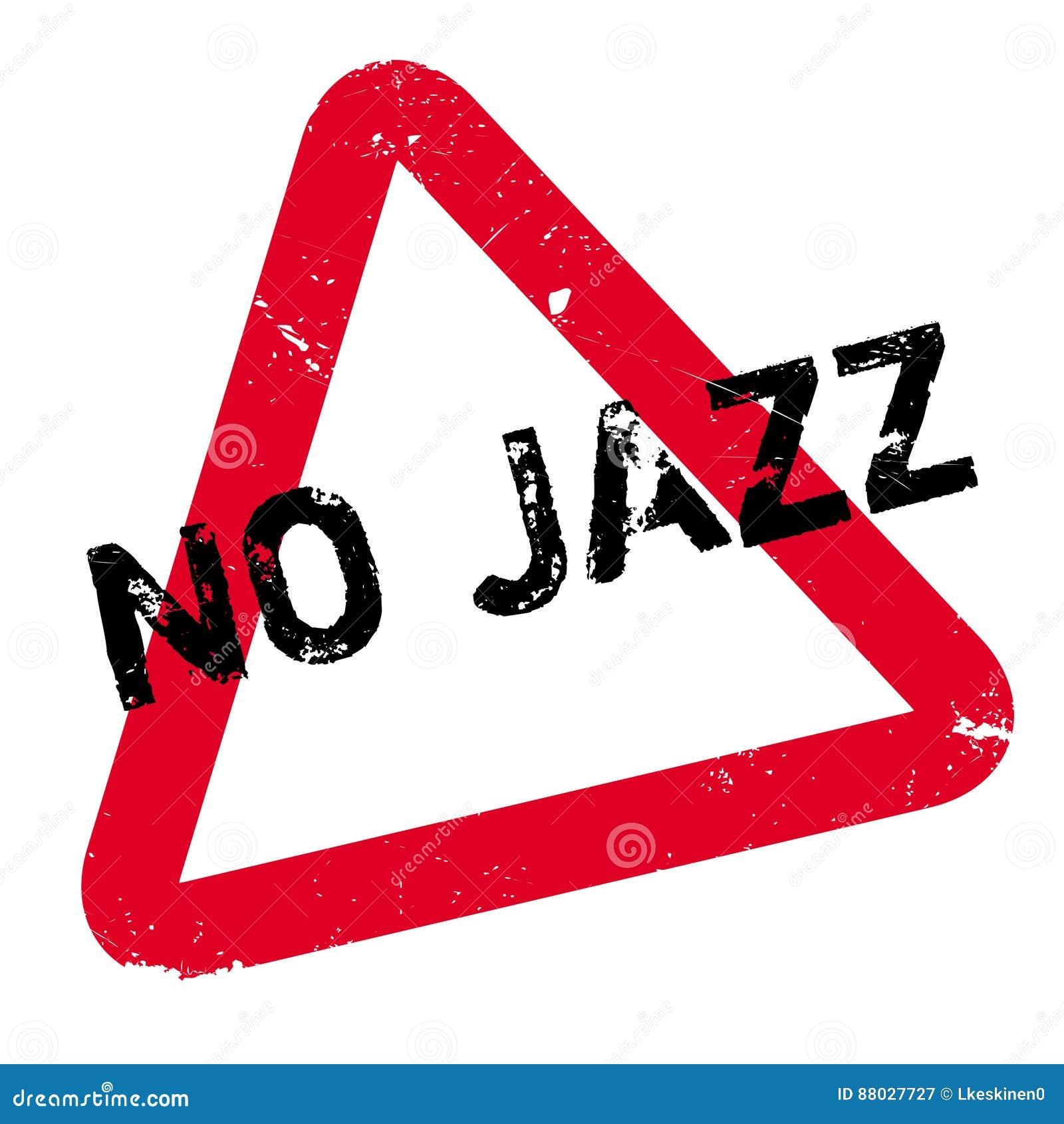 Geen Jazz rubberzegel