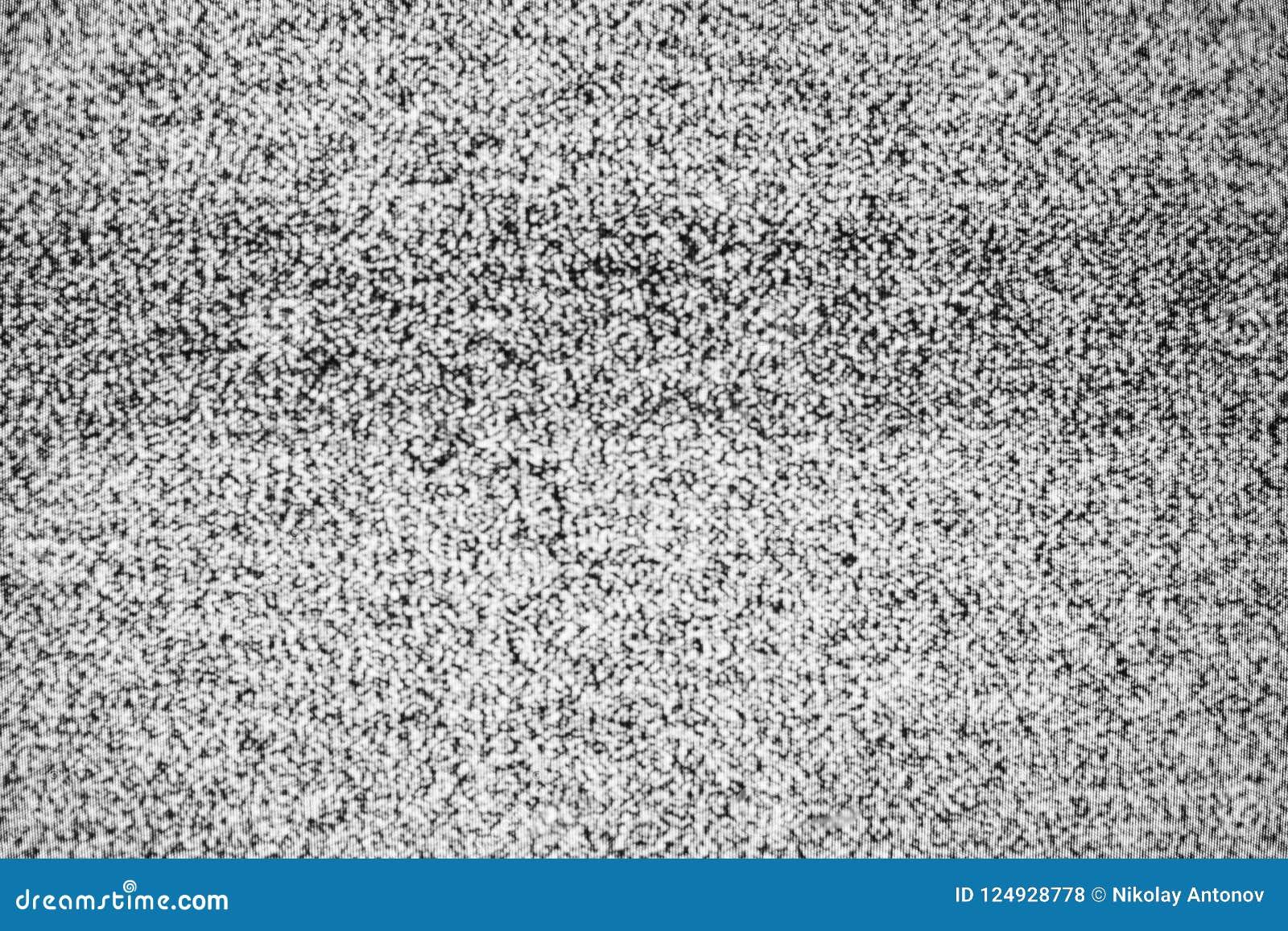 Geen textuur van signaaltv Effect van het televisie het korrelige lawaai als achtergrond Geen patroon van de signaal retro uitste