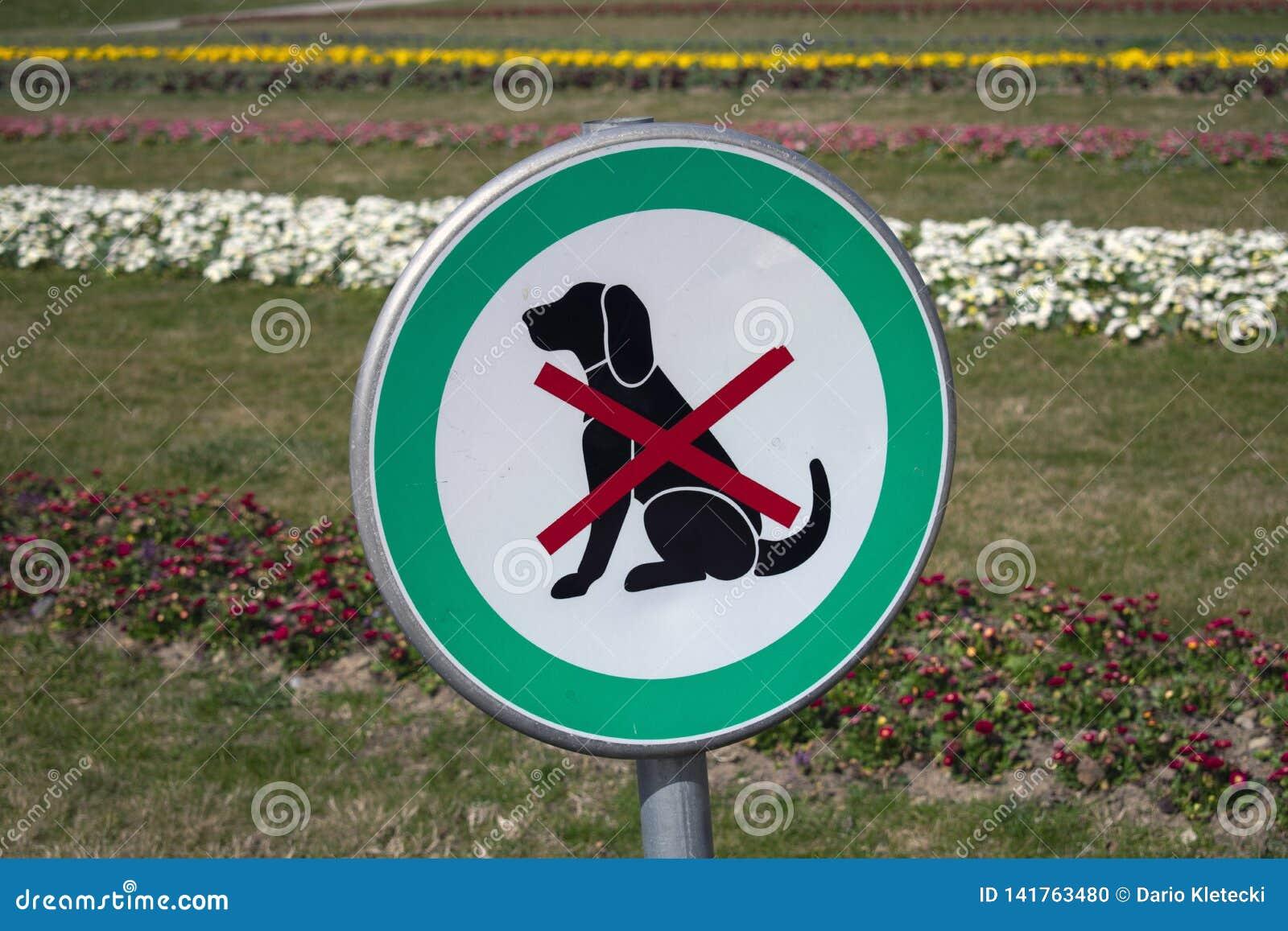 Geen toegestane honden, verboden honden