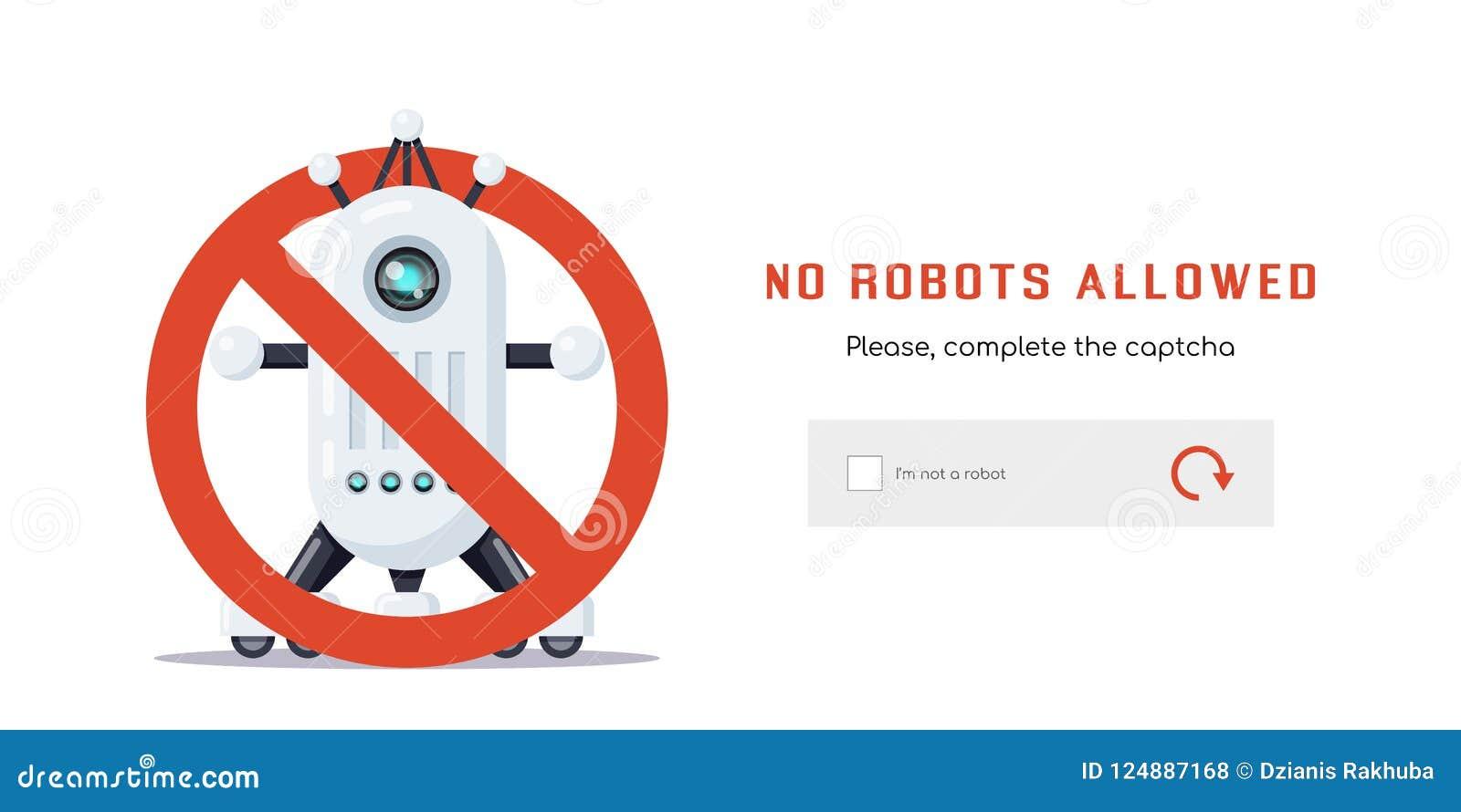 Geen toegestane robots