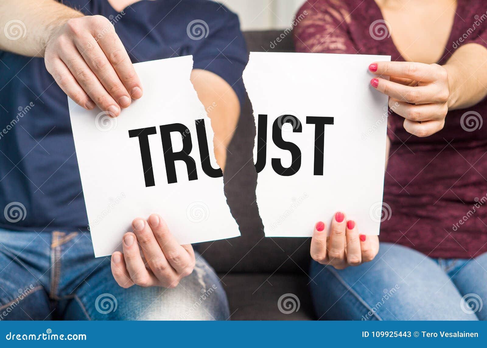 Geen vertrouwen het Bedriegen, ontrouw, echtelijke problemen