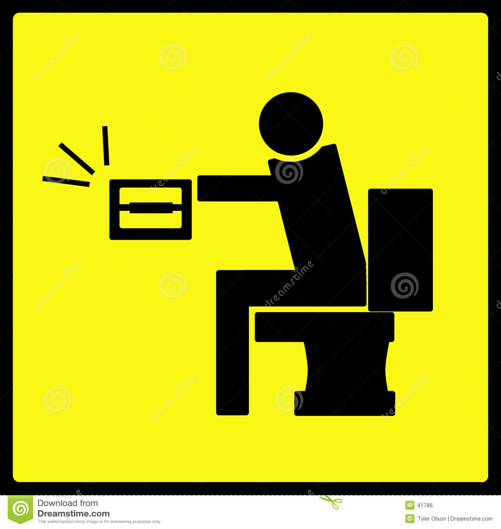 Geen Waarschuwingssein van het Toiletpapier
