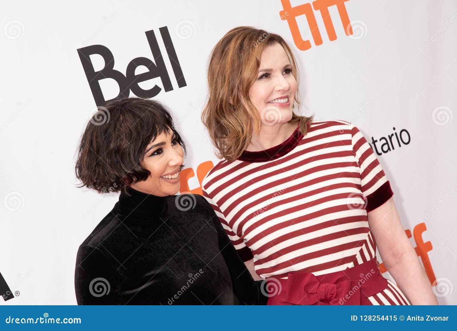 Geena Davis and Jackie Cruz is at premiere of `This Changes Everything` at TIFF2018