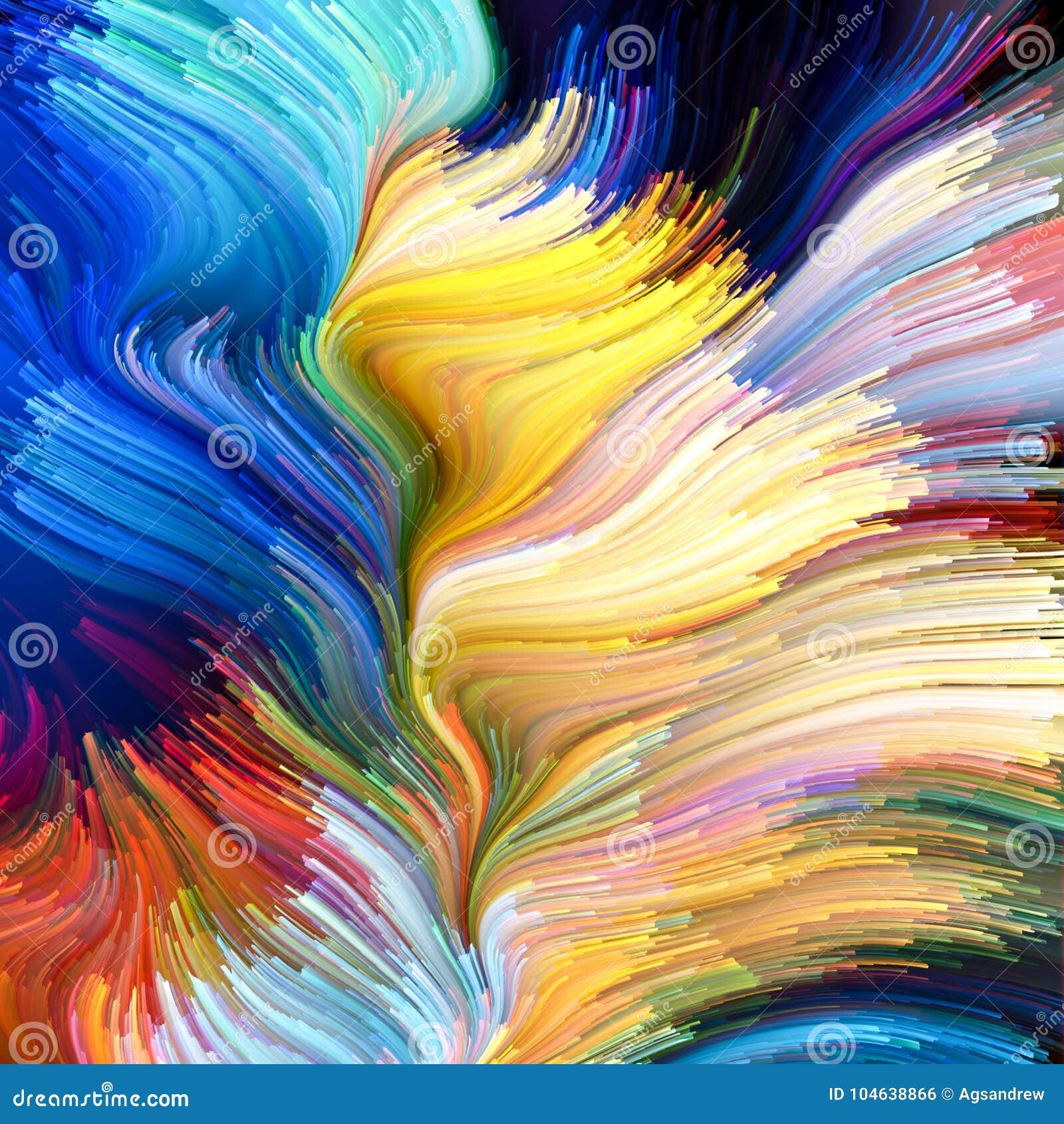 Download Geest van Vloeibare Kleur stock illustratie. Illustratie bestaande uit art - 104638866