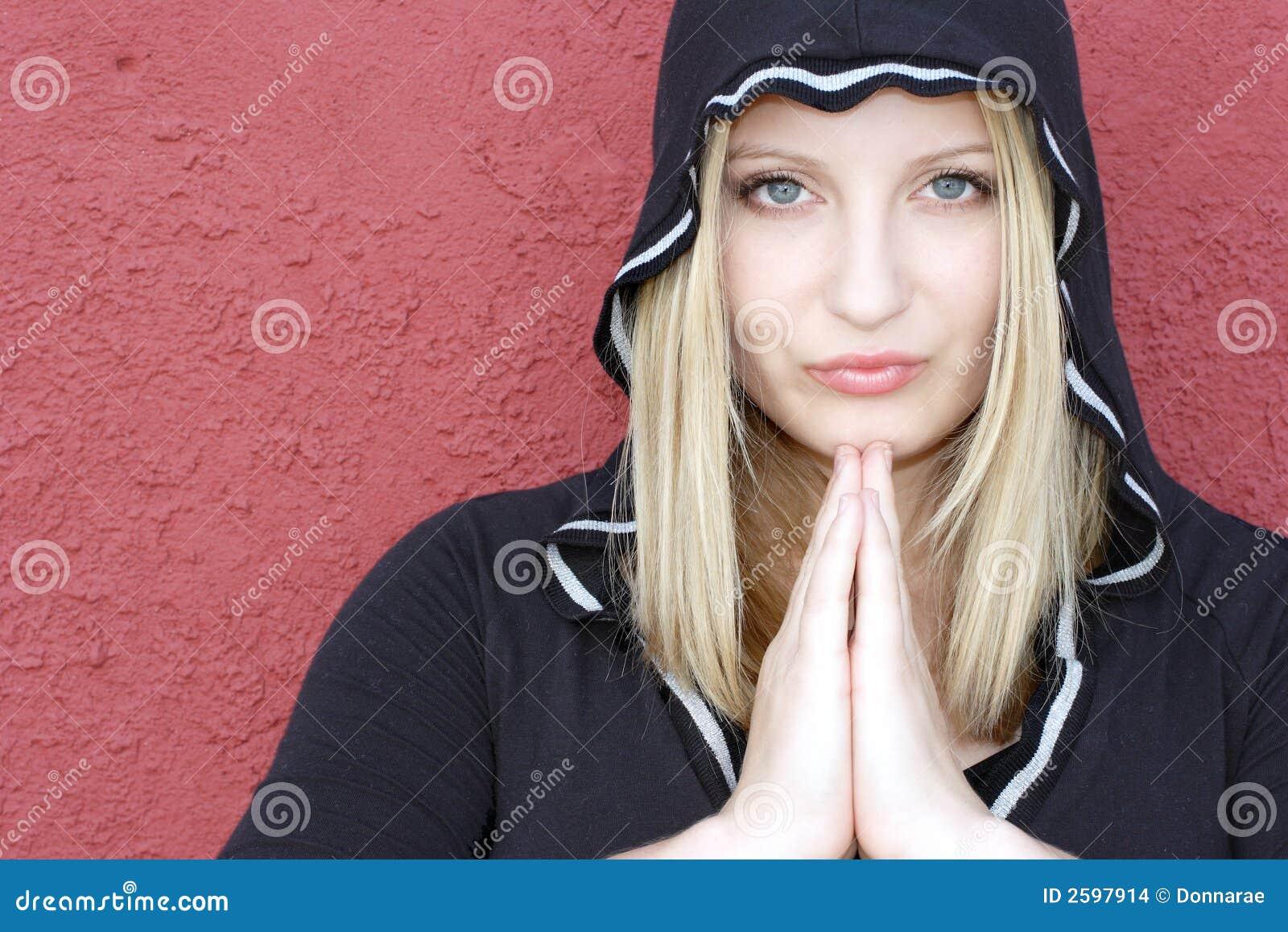 Geestelijke adolescentievrouw