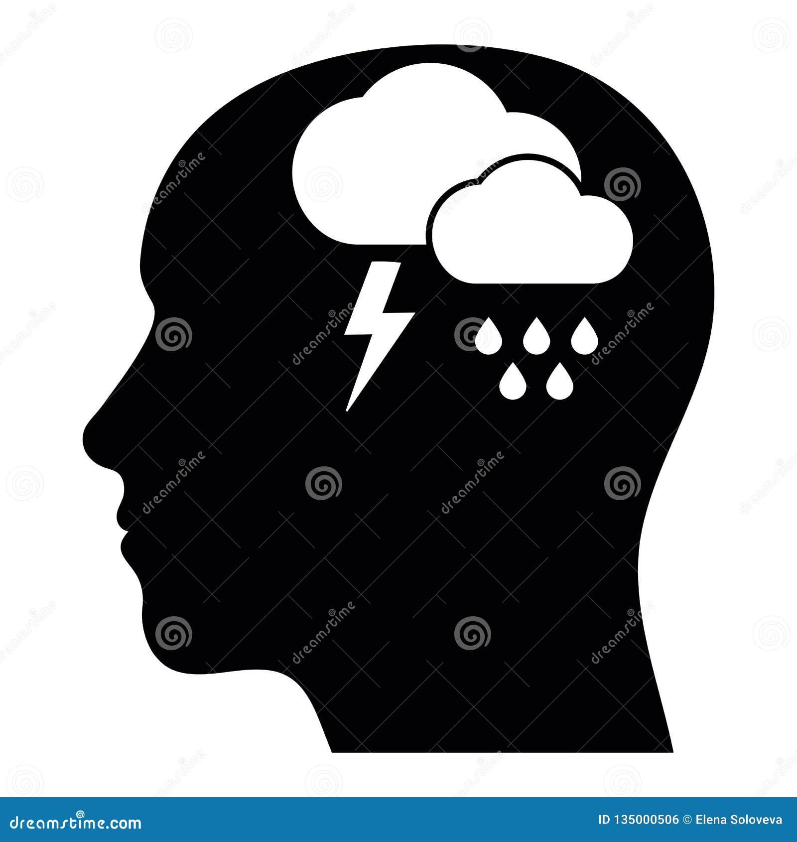 Geestelijke gezondheidssignalering van depressie, verslavings of eenzaamheidsconcept Emotionele wanhoop, druk en zwaar, symbool v